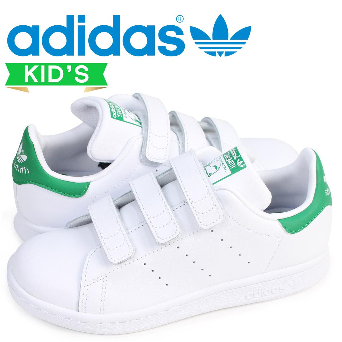 アディダス オリジナルス adidas Originals スタンスミス ベルクロ スニーカー キッズ STAN SMITH CF C ホワイト 白 M20607