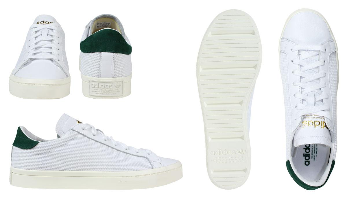 原件阿迪三叶草阿迪达斯外套有利法院有利 S76198 运动鞋男鞋白色