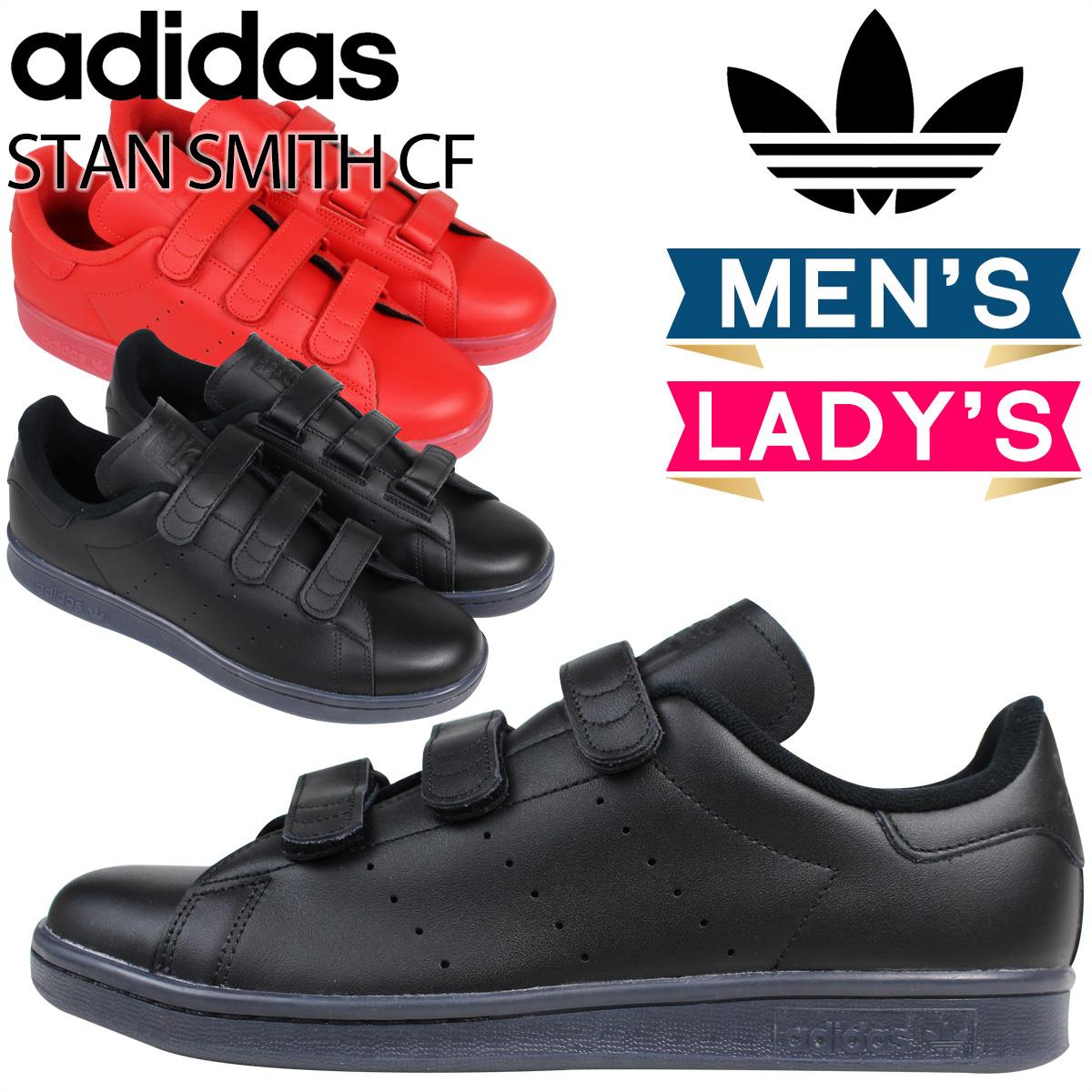 アディダス オリジナルス スタンスミス ベルクロ adidas Originals スニーカー STAN SMITH CF メンズ レディース S80043 S80044 ブラック レッド