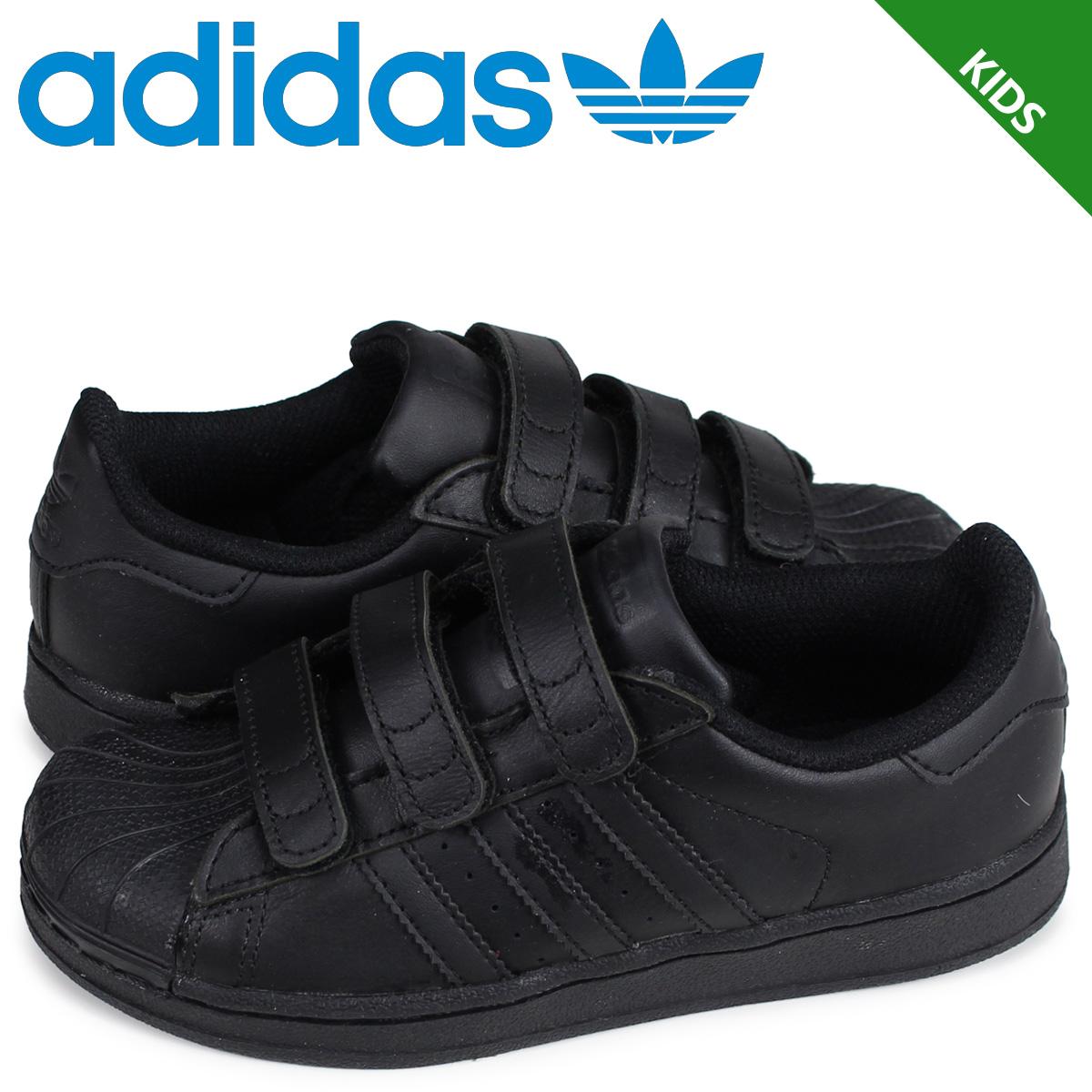 b9245cdd8c3 Adidas originals adidas Originals superstar sneakers kids Velcro SUPERSTAR  FOUNDATION CF C black black B25728  4 3 Shinnyu load