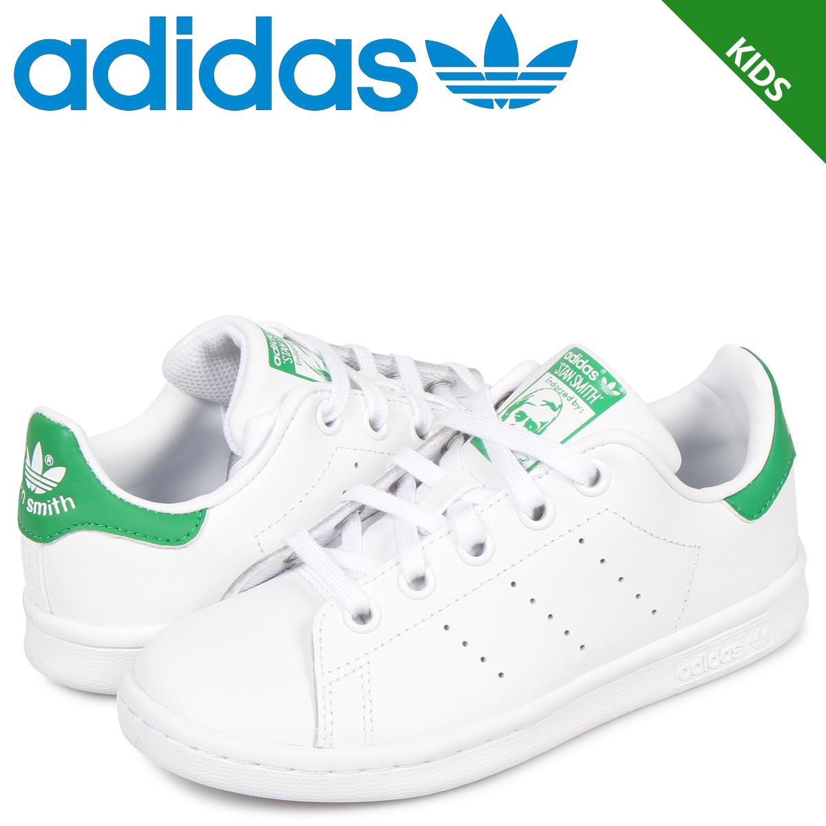 アディダス オリジナルス adidas Originals スタンスミス スニーカー キッズ STAN SMITH EL C ホワイト 白 BA8375