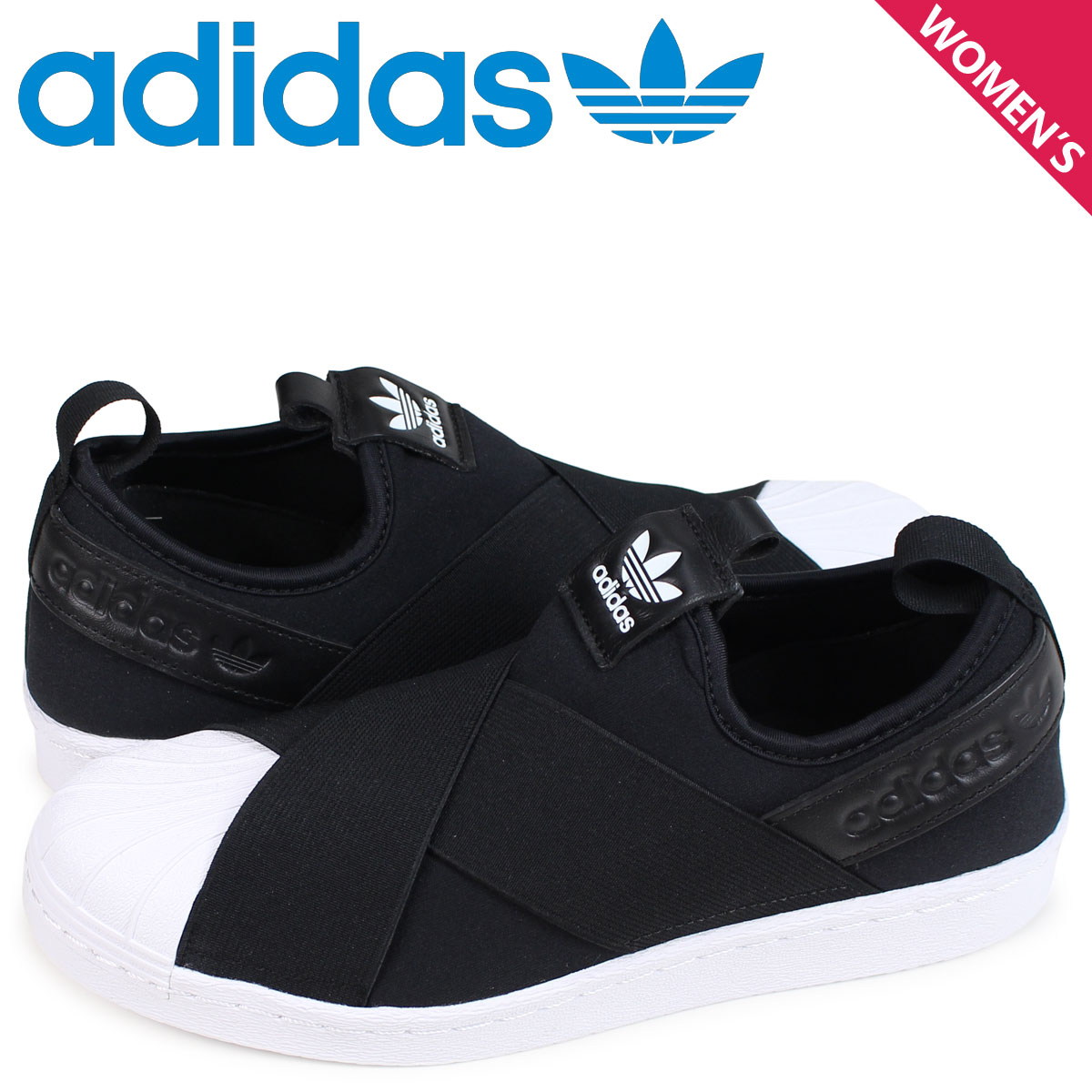 Adidas originals adidas Originals superstar sneakers slip-ons Lady s  SUPERSTAR SLIP-ON W black S81337  load planned Shinnyu load in reservation  product 1 25 ... 2c9d0b19d