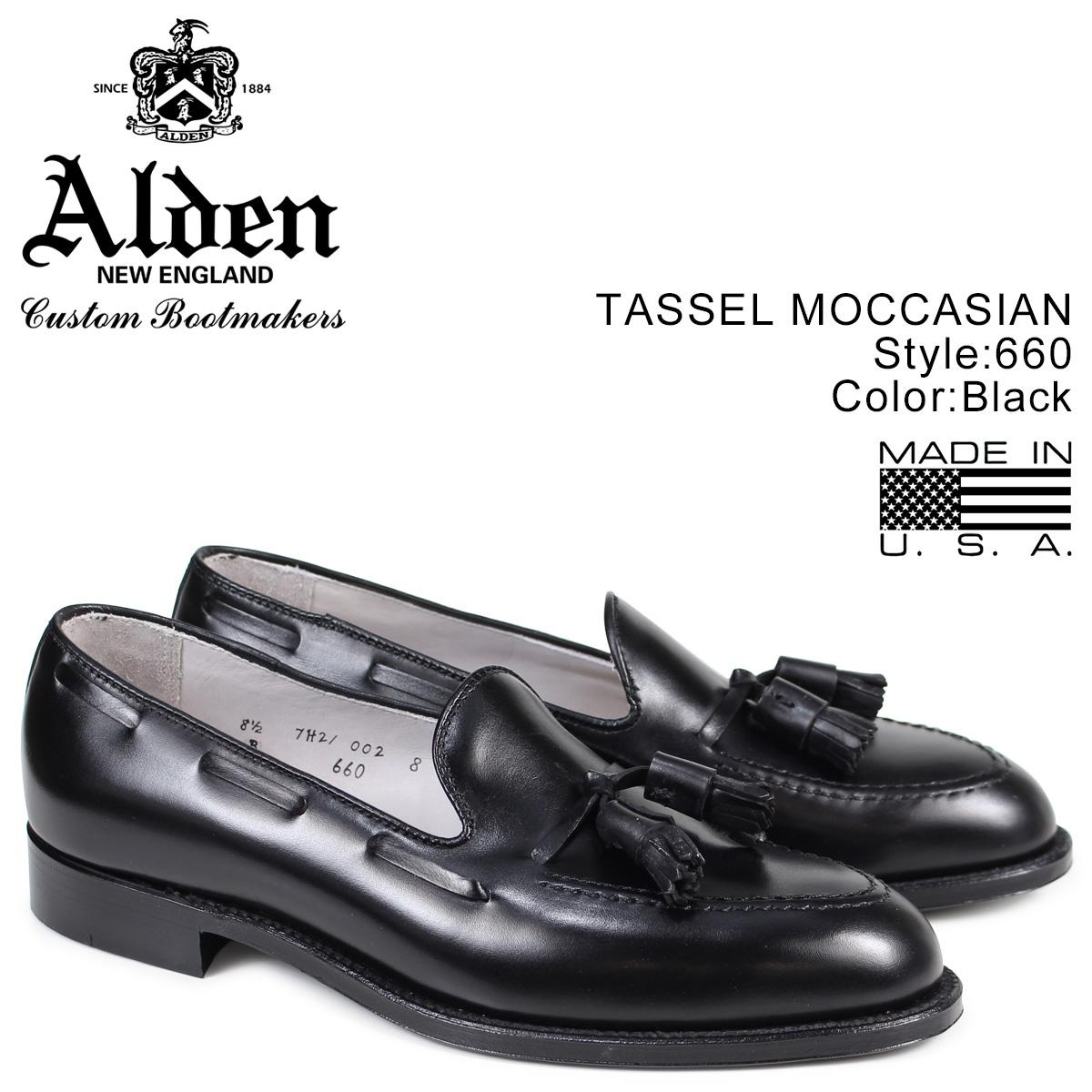 ALDEN オールデン ローファー タッセル シューズ メンズ TASSEL MOCCASIN ブラック Dワイズ 660