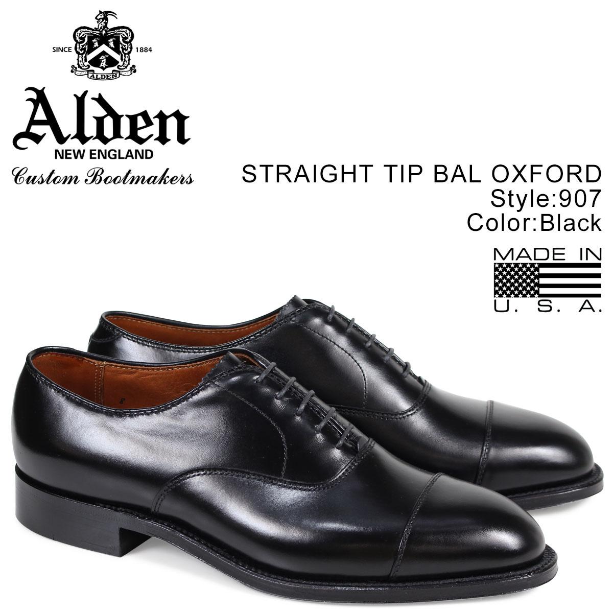 ALDEN オールデン ストレートチップ シューズ メンズ STRAIGHT CAP TOE BAL ブラック Dワイズ 907