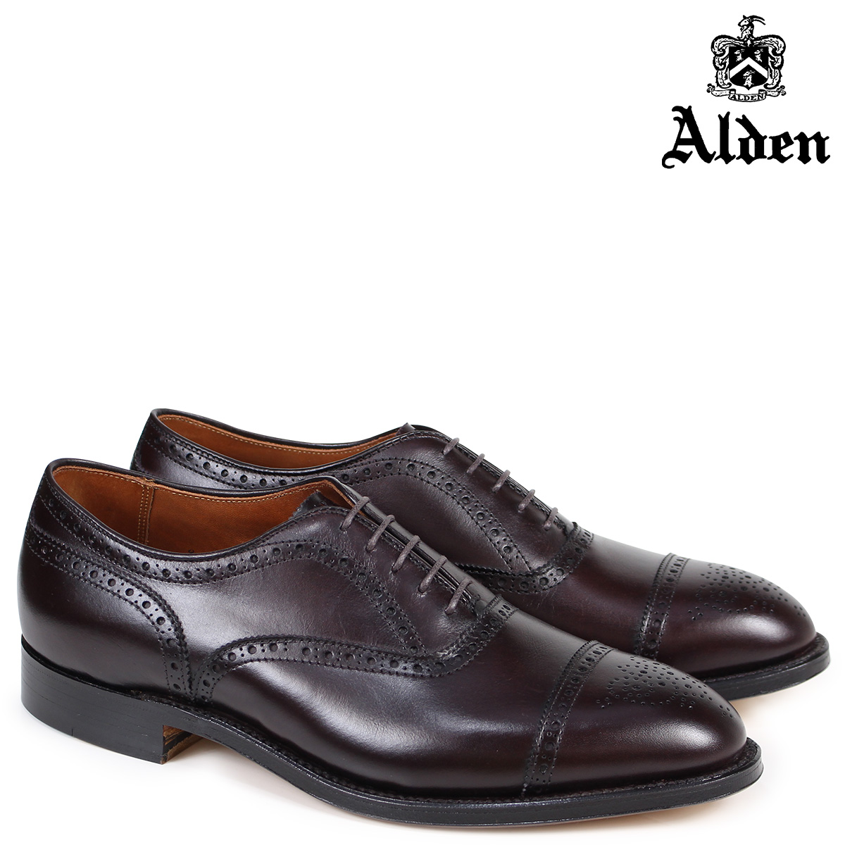ALDEN オールデン オックスフォード シューズ メンズ MEDALLION TIP BAL OXFORD Dワイズ 908