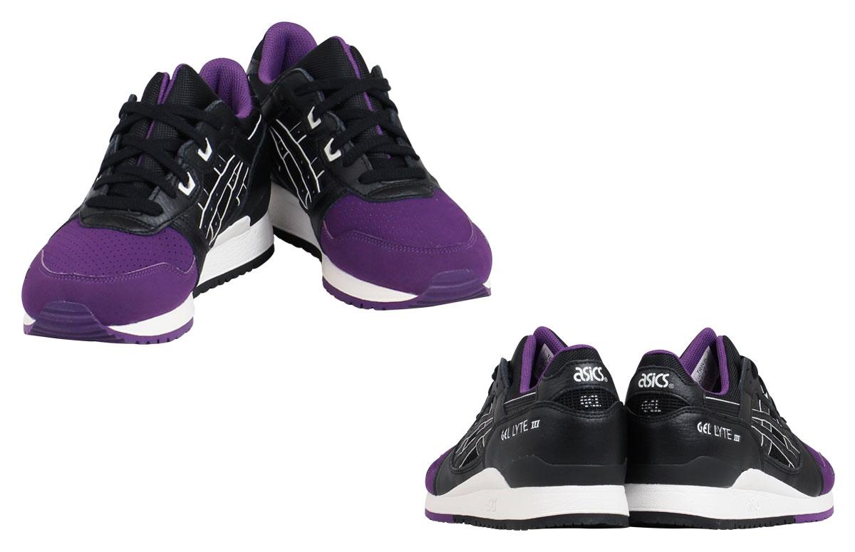 专用集成电路 asic 男装女装凝胶 LYTE 3 运动鞋住院部 TQ5V 0 L-3390 紫色黑色 [7/23 新股票]