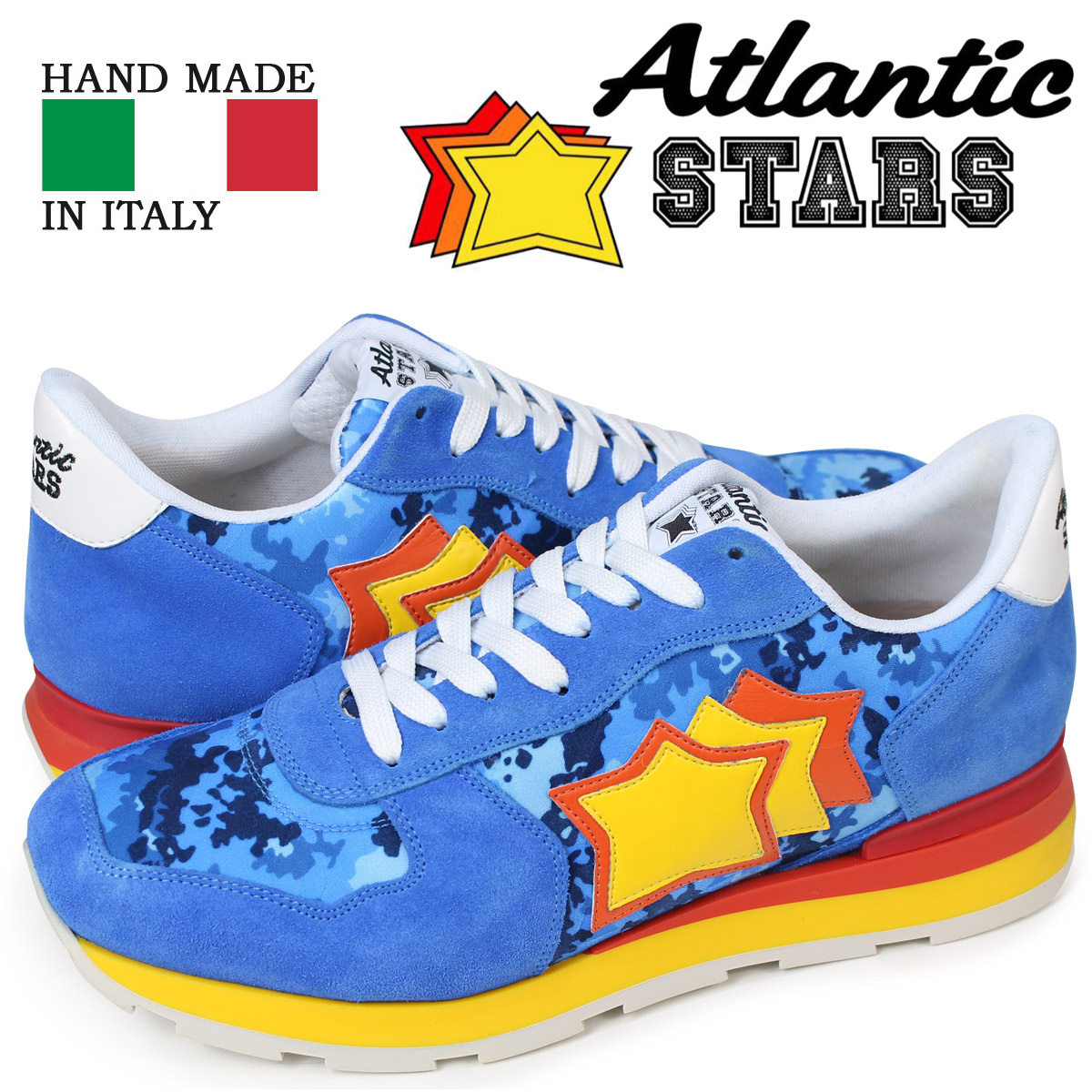 【最大2000円OFFクーポン】 アトランティックスターズ Atlantic STARS アンタレス スニーカー メンズ ANTARES ブルー AD-27R