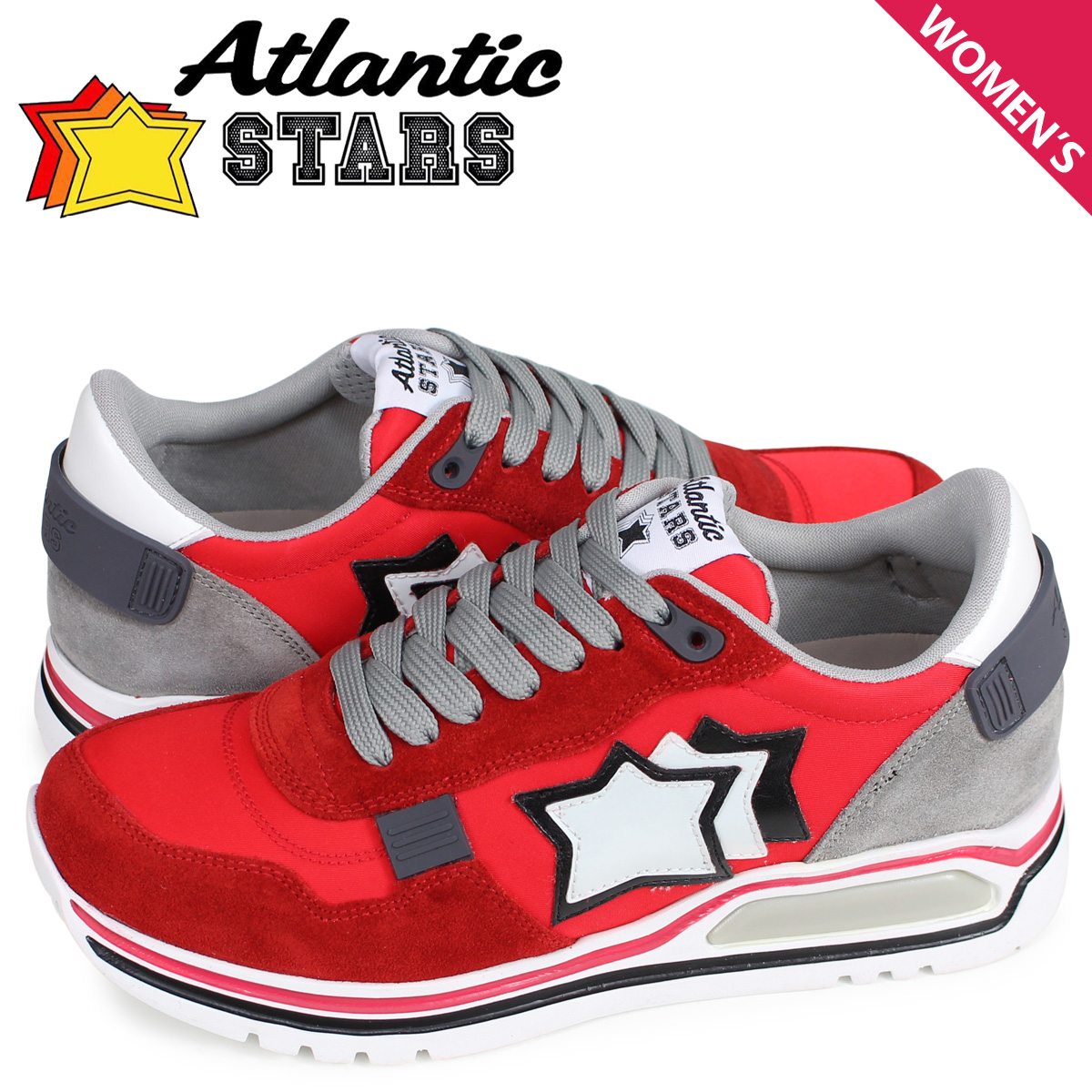 【お買い物マラソンSALE】 アトランティックスターズ Atlantic STARS シャカ スニーカー レディース SHAKA レッド CF-J04