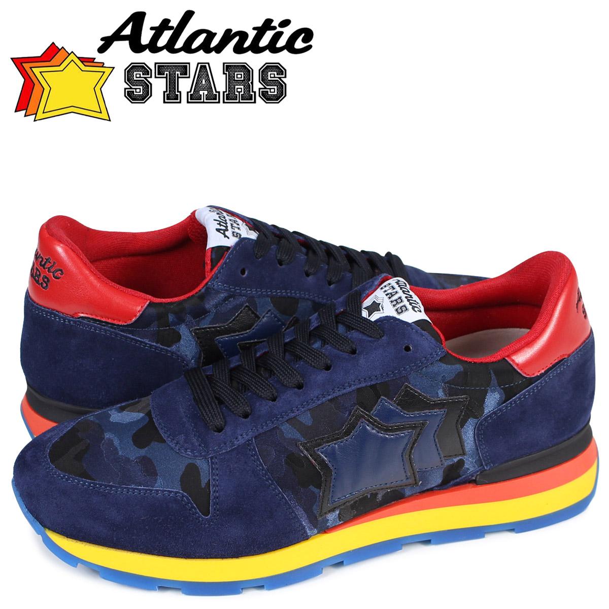 アトランティックスターズ メンズ スニーカー Atlantic STARS シリウス SIRIUS MB-49N ブルー カモ スエード