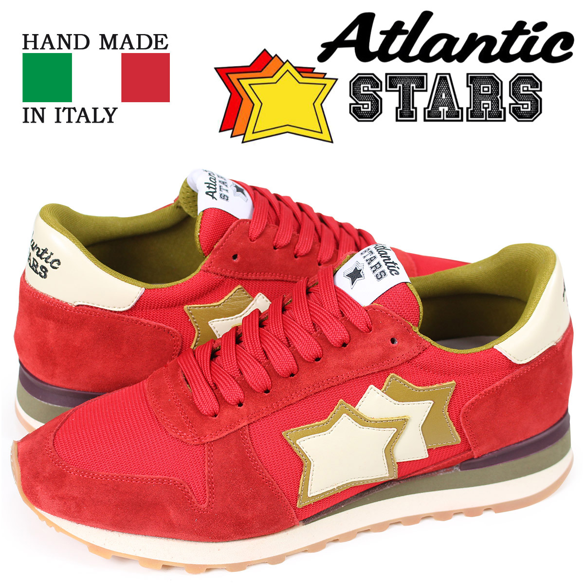 アトランティックスターズ メンズ スニーカー Atlantic STARS アルゴ ARGO RFS-NY-APSBO レッド 【決算セール 返品不可】