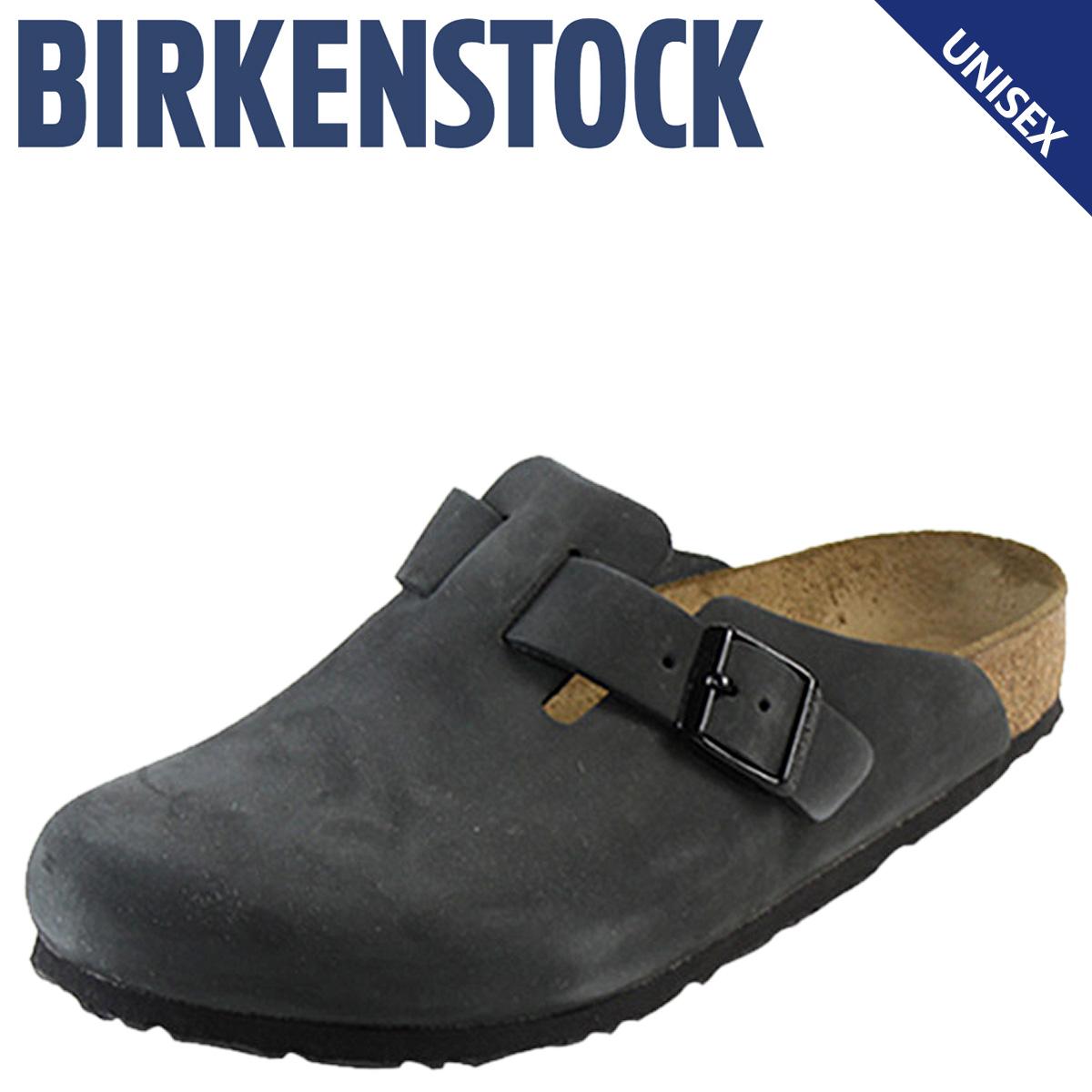 勃肯勃肯波士顿波士顿 [正常宽度磨砂、 棕色男装女装凉鞋室内鞋
