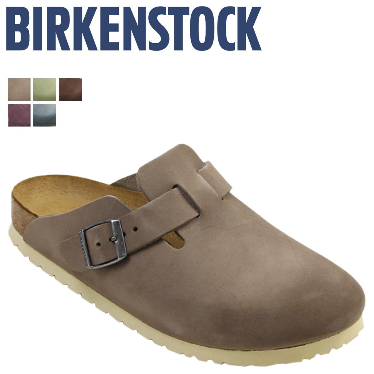 fee1c2b1ff2 ビルケンシュトック BIRKENSTOCK Boston men gap Dis BOSTON building Ken sandals thin  common width clog sandals nubuck