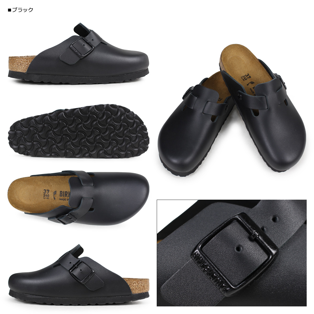 «Pre-order items» «5 / 22 time stock» Birkenstock BIRKENSTOCK vilken ladies Boston Sandals BOSTON shred width leather clog Sandals 2015 spring summer new 4 color [5 / 22 new stock] [regular] ★ ★