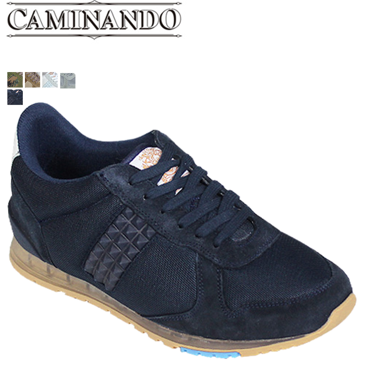 02ca9ec019ba Point 2 x caminando CAMINANDO studded trainer sneaker STUDS TRAINERS suede  x mesh mens shoes 2014 years receiving 1427 5 color  regular  02P01Nov14