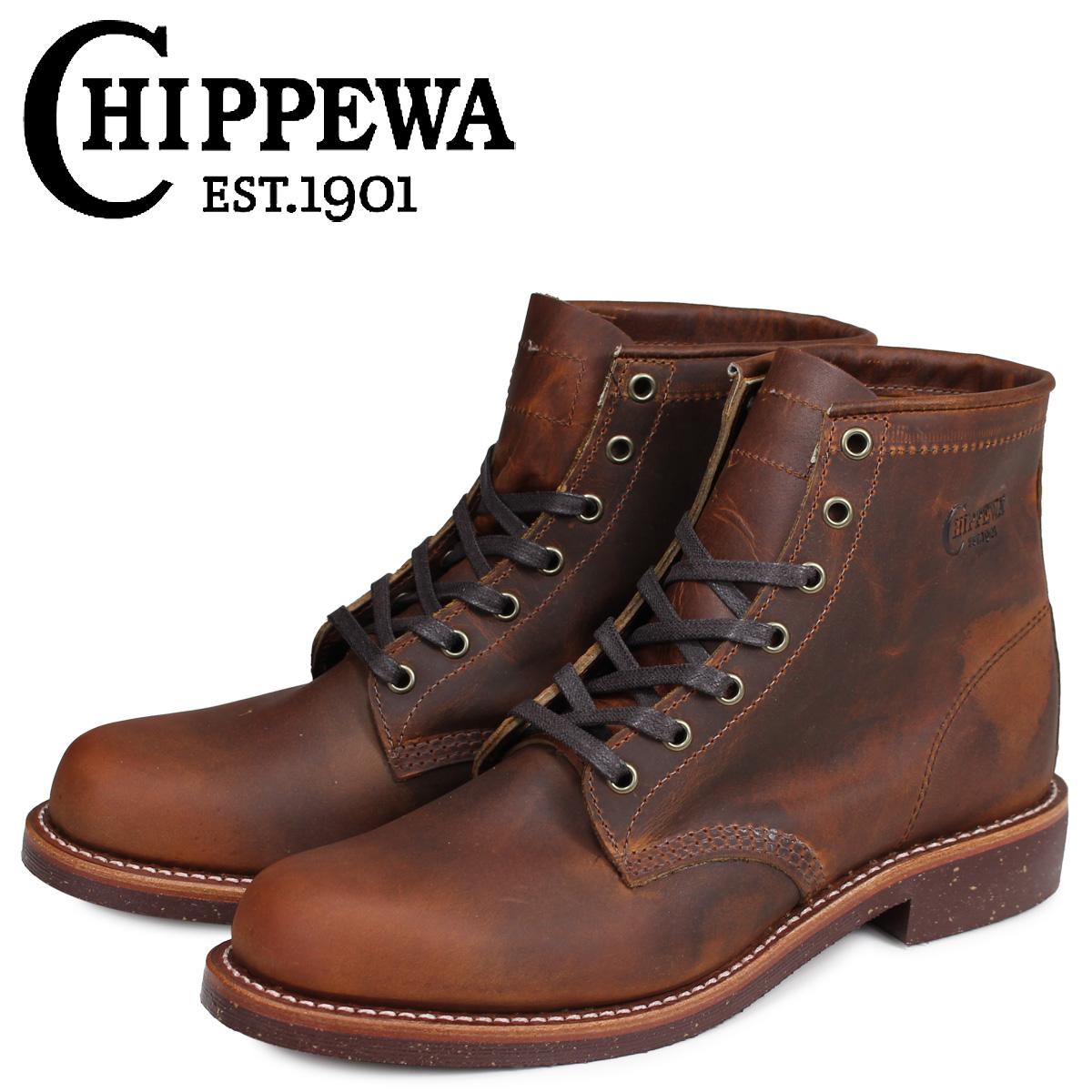 チペワ CHIPPEWA ブーツ 6インチ サービス 6INCH SERVICE BOOT 1901M26 Dワイズ タン メンズ [3/30 追加入荷]