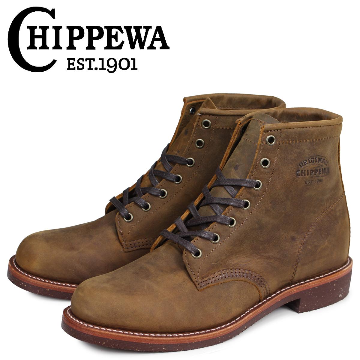 チペワ CHIPPEWA ブーツ 6インチ サービス 6INCH SERVICE BOOT 1901M29 Dワイズ EEワイズ タン メンズ [3/30 追加入荷]