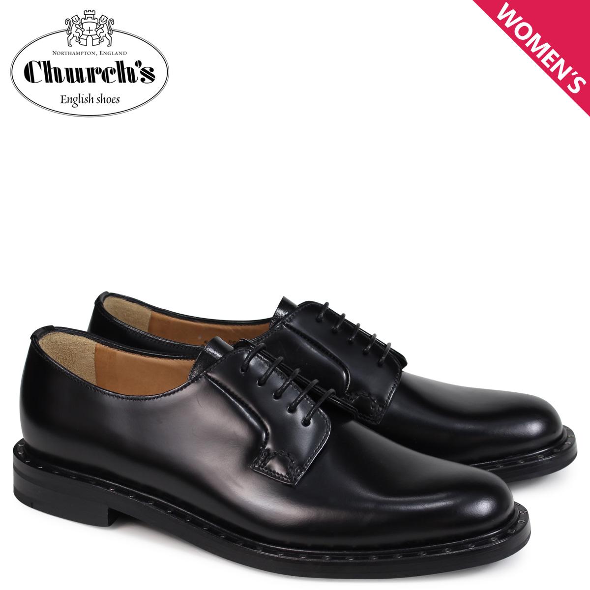 チャーチ Churchs 靴 レディース レベッカ2 プレーントゥー REBECCA 2 POLISHED BINDER DE0075 ブラック