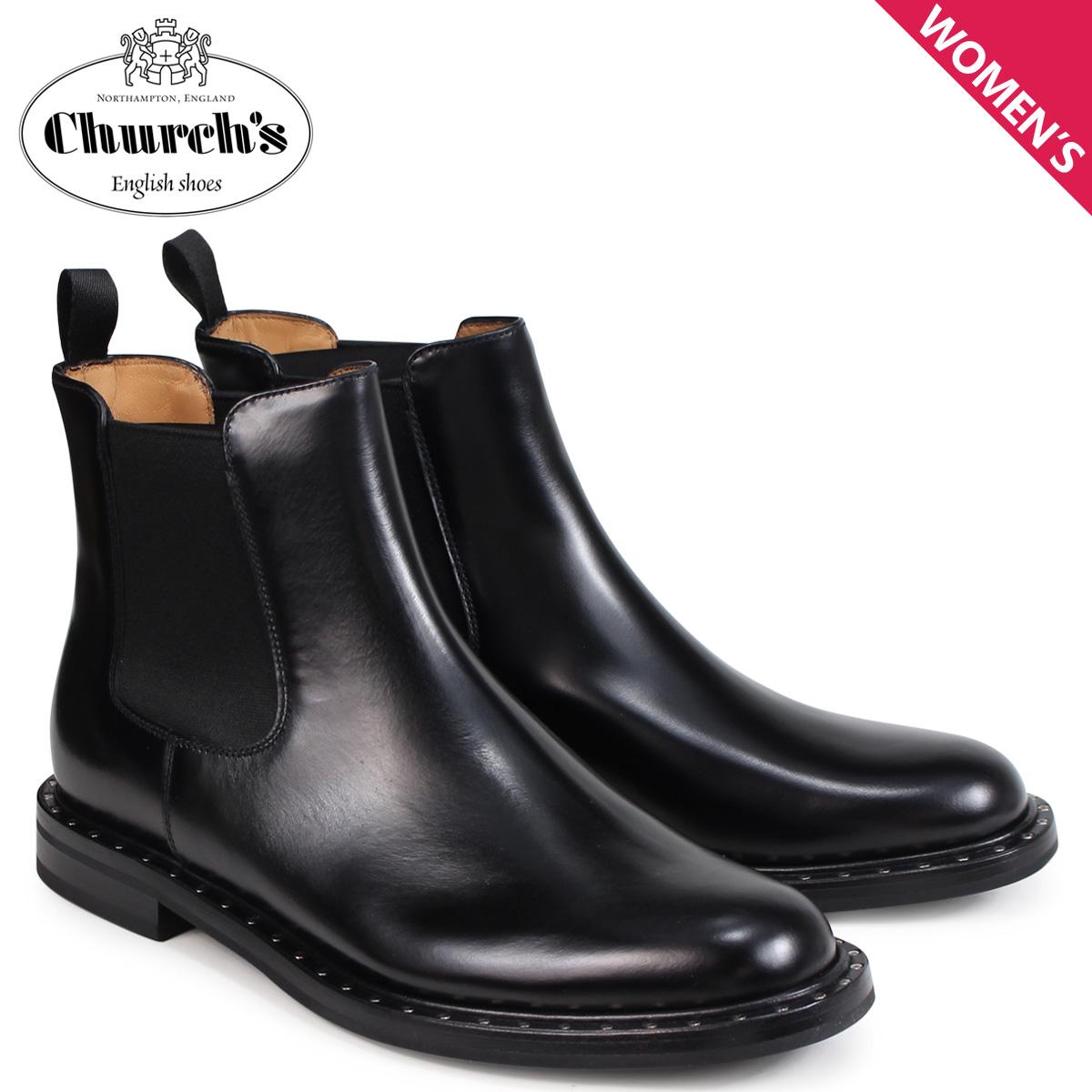 チャーチ Churchs 靴 レディース ニラー2 サイドゴア ショートブーツ NIRAH 2 POLISHED BINDER DT0039 ブラック