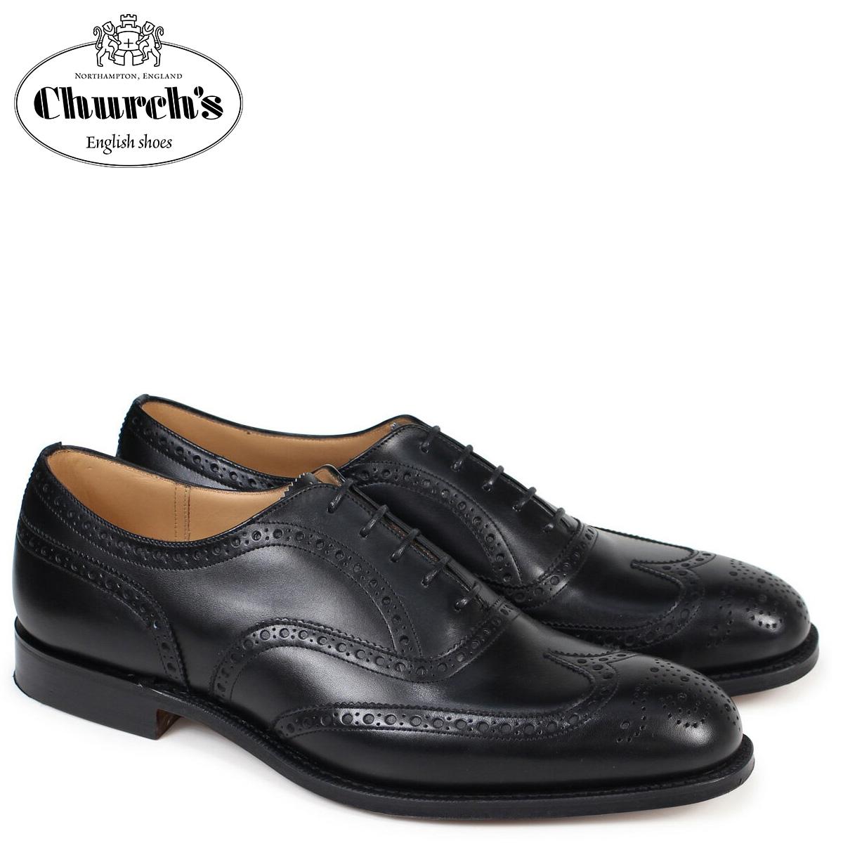 チャーチ Churchs 靴 チェットウインド ウイングチップ シューズ メンズ CHETWYND レザー ブラック EEB007