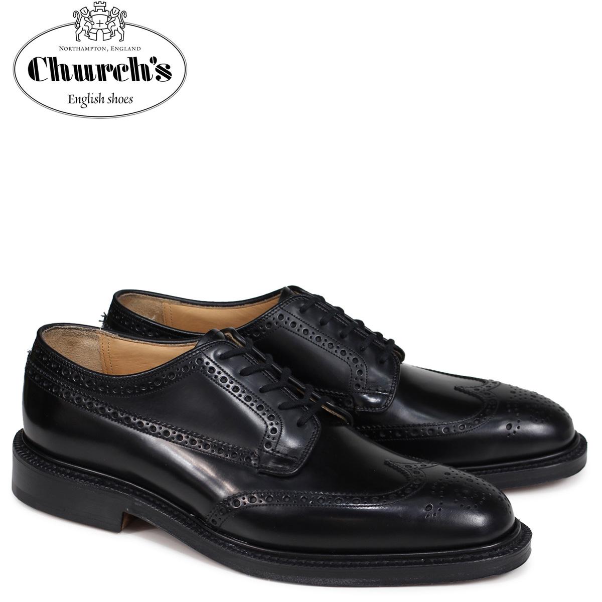 チャーチ Church's 靴 グラフトン ウイングチップ シューズ メンズ GRAFTON レザー ブラック EEB009