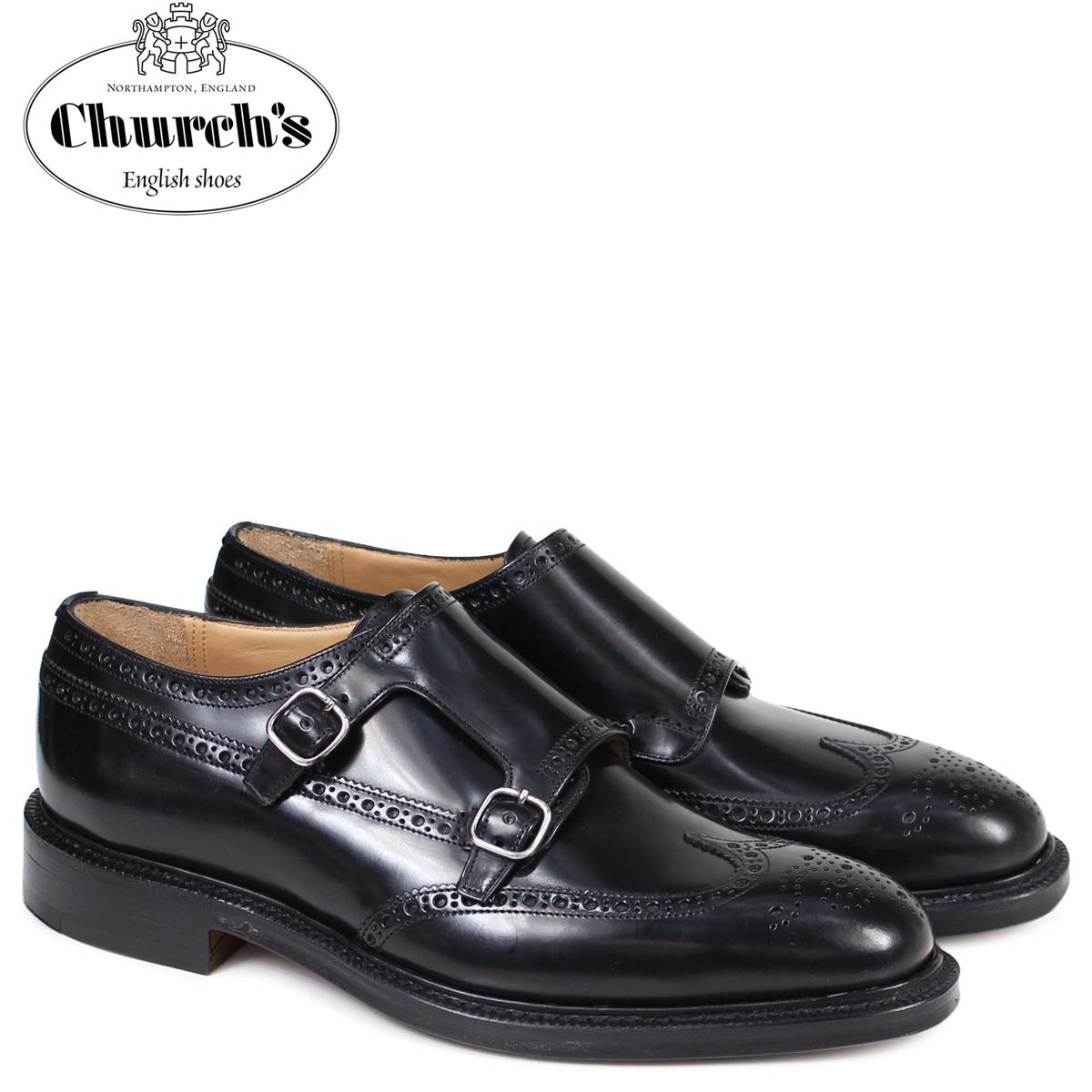 チャーチ Church's 靴 ダブルモンクストラップ シューズ メンズ MONKTON レザー ブラック EOB008