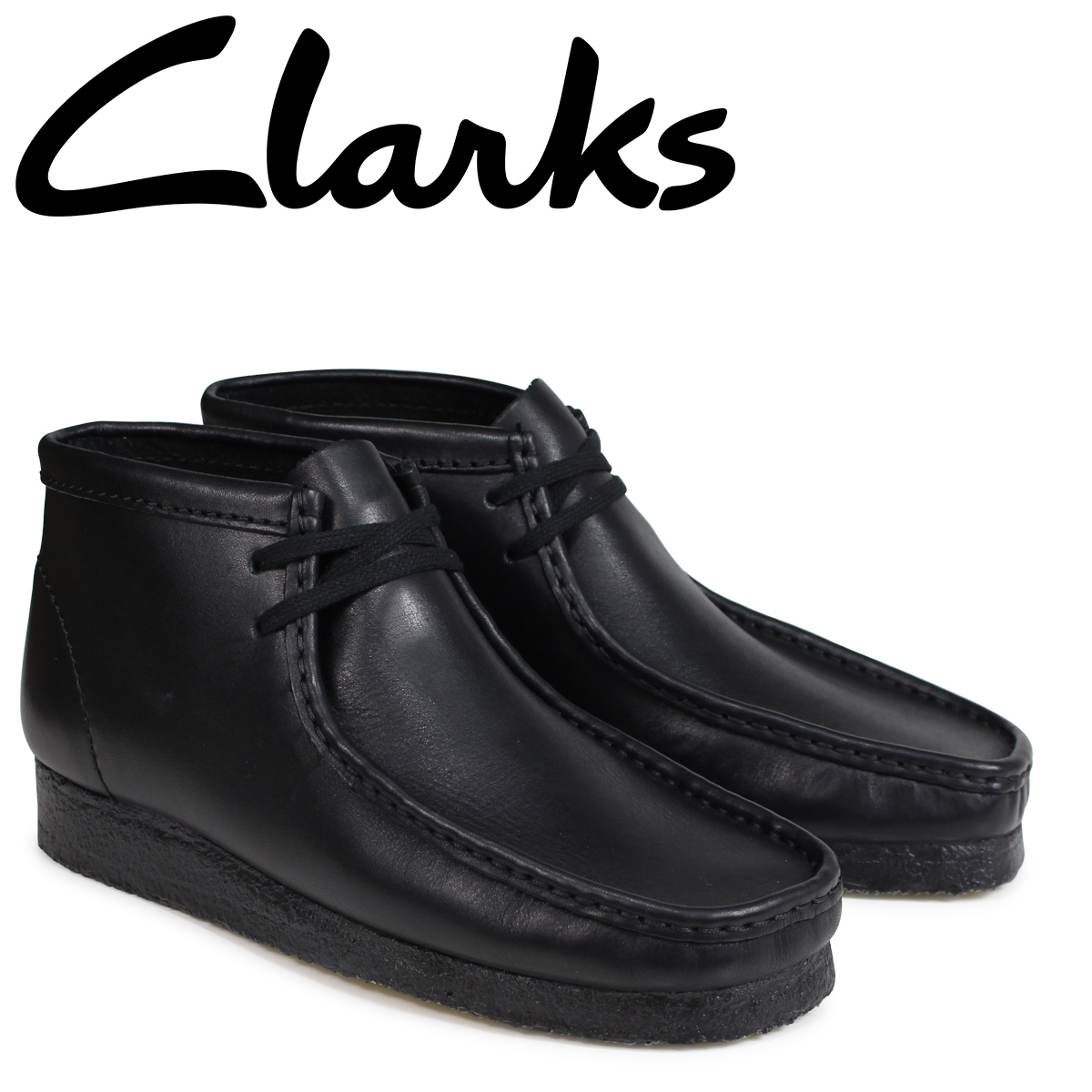 be9353c2ad3b9 Clarks Clarks Wallaby boots WALLABEE BOOT M wise leather men s 26103666  black  5   2 new stock   regular