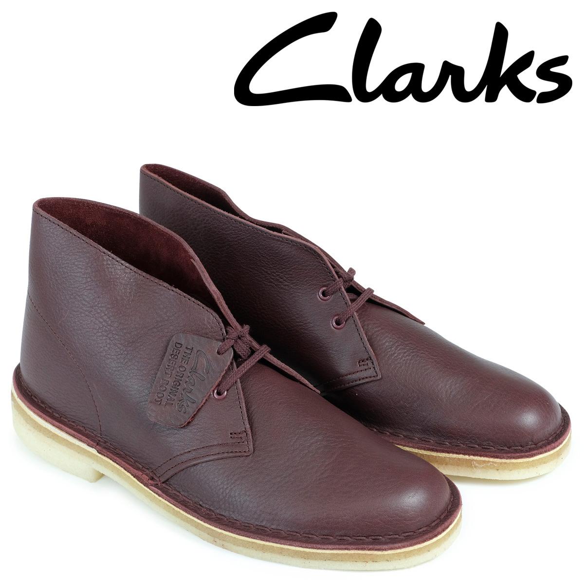 クラークス Clarks デザートブーツ メンズ DESERT BOOT 26125547 レザー バーガンディー