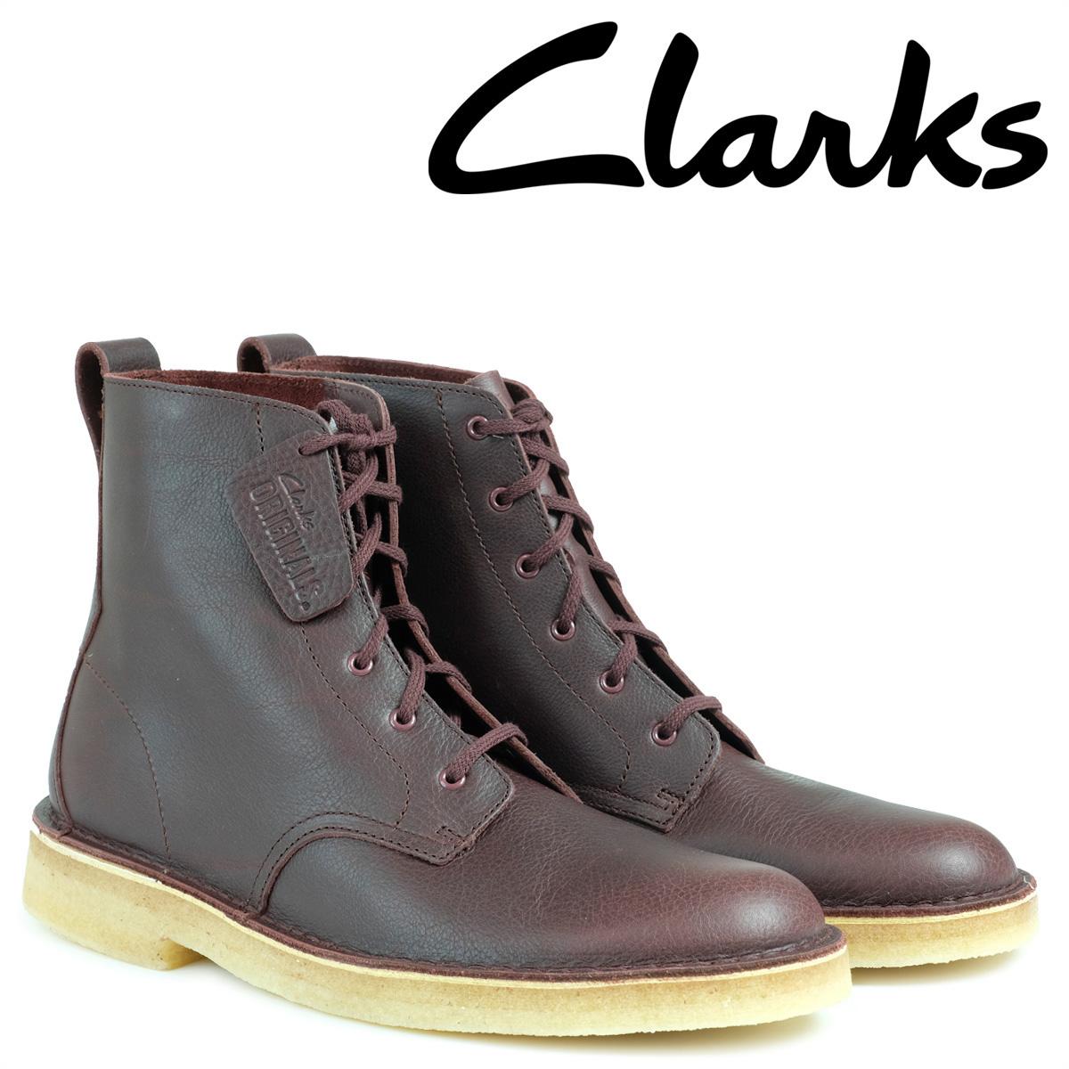 【最大2000円OFFクーポン】 クラークス デザート ブーツ メンズ Clarks DESERT MALI マリ 26126186 バーガンディー