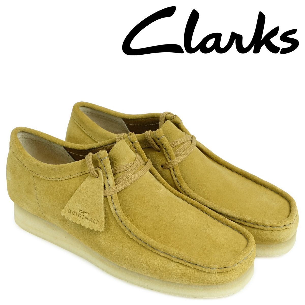 クラークス ワラビー ブーツ メンズ Clarks WALLABEE 26128360 ベージュ