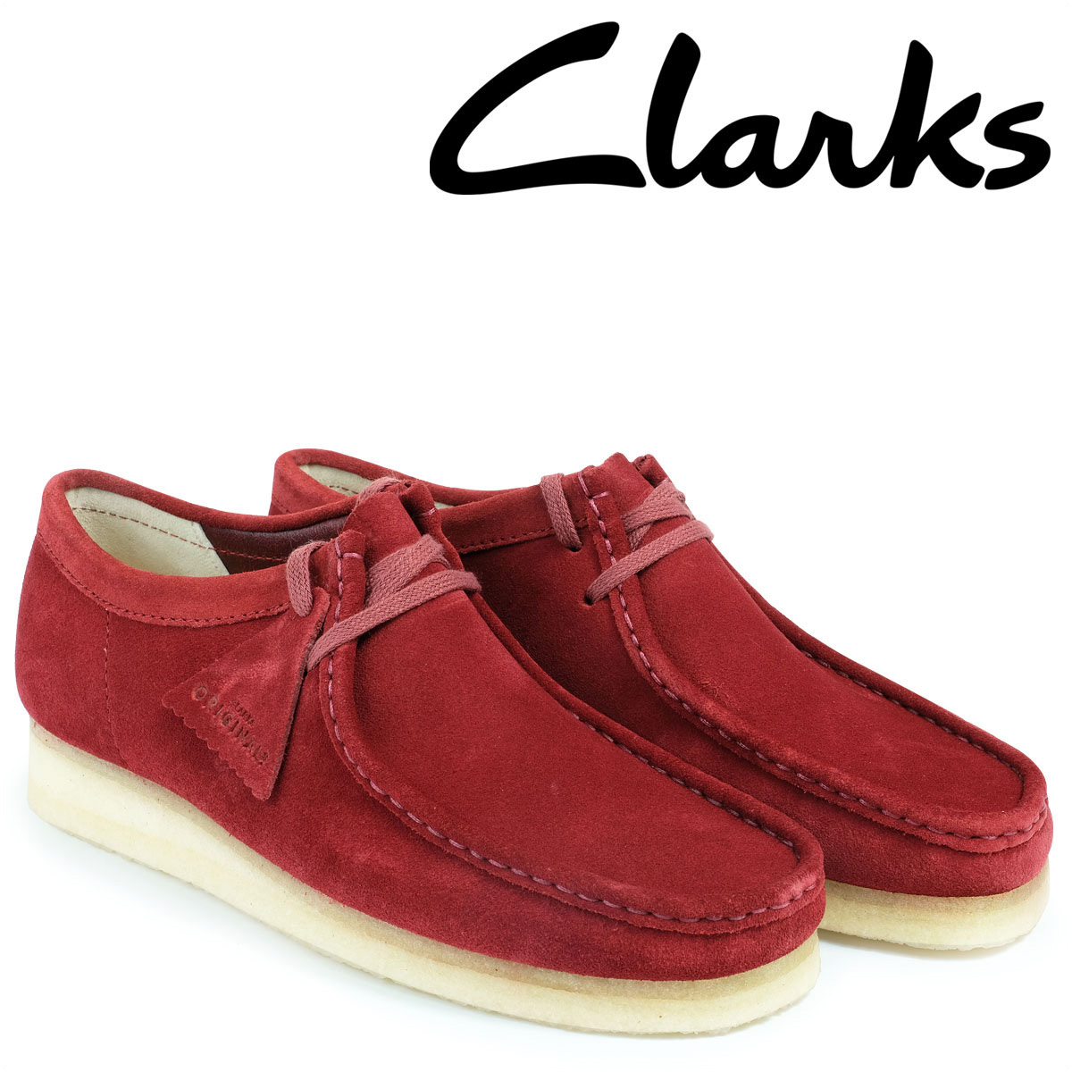 【最大2000円OFFクーポン】 クラークス ワラビー ブーツ メンズ Clarks WALLABEE 26128365 レッド