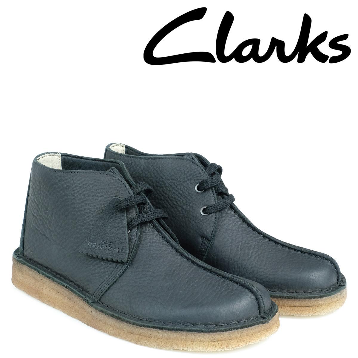 クラークス デザートトレック ブーツ メンズ Clarks DESERT TREK HI 26128366 ブラック