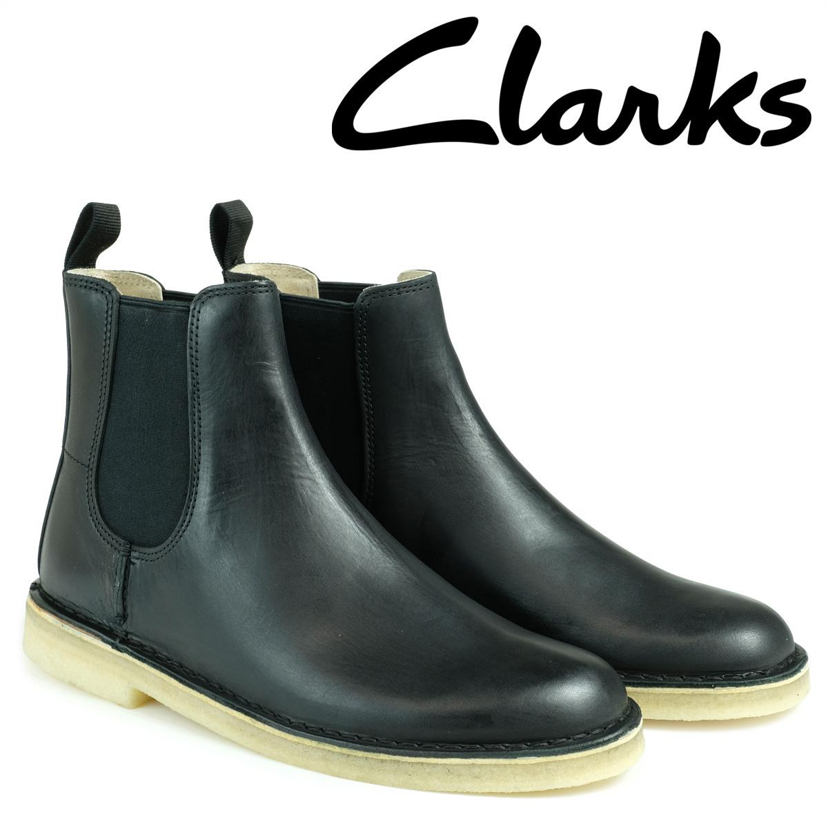 クラークス デザート ピーク ブーツ メンズ Clarks DESERT PEAK 26128730 サイドゴア ブラック