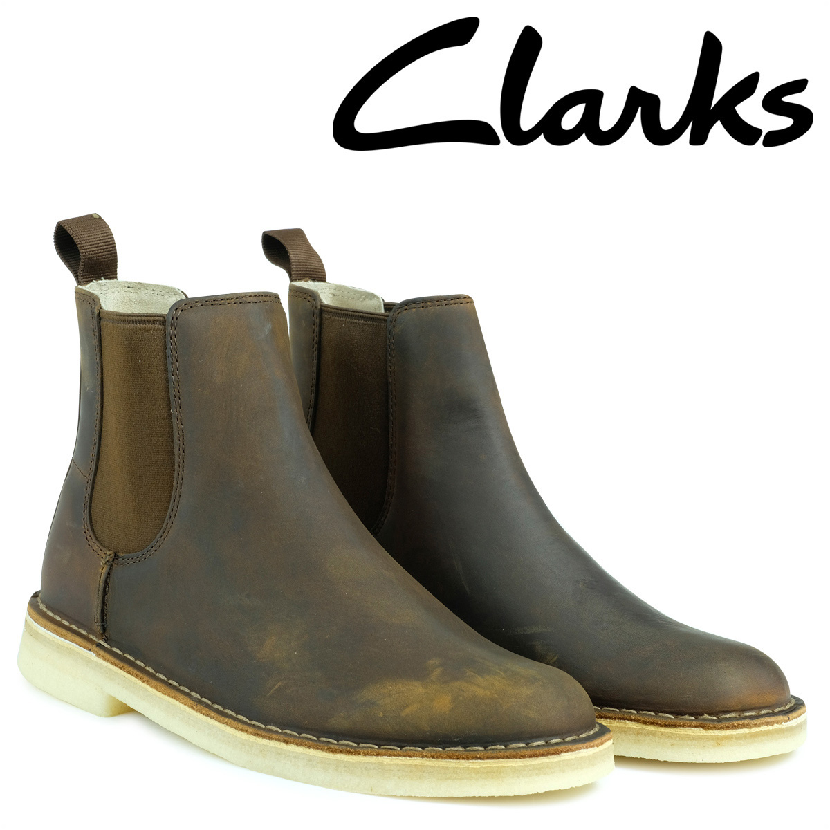 【お買い物マラソンSALE】 クラークス Clarks デザートブーツ メンズ DESERT PEAK 26128732 サイドゴア ピーク ブラウン