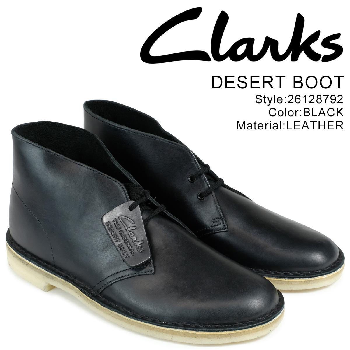 クラークス クラークス Clarks デザートブーツ BOOT メンズ DESERT BOOT 26128792 レザー レザー ブラック, YMT:5f59325f --- ww.thecollagist.com