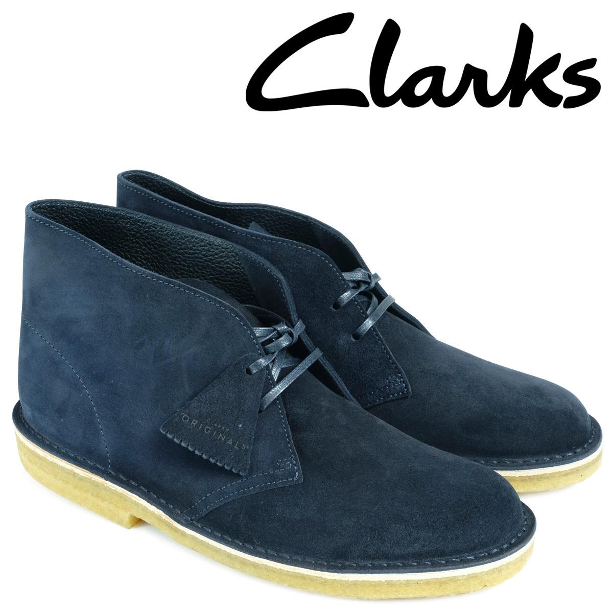 クラークス デザートブーツ メンズ Clarks DESERT BOOT 26130007 レザー ダークブルー