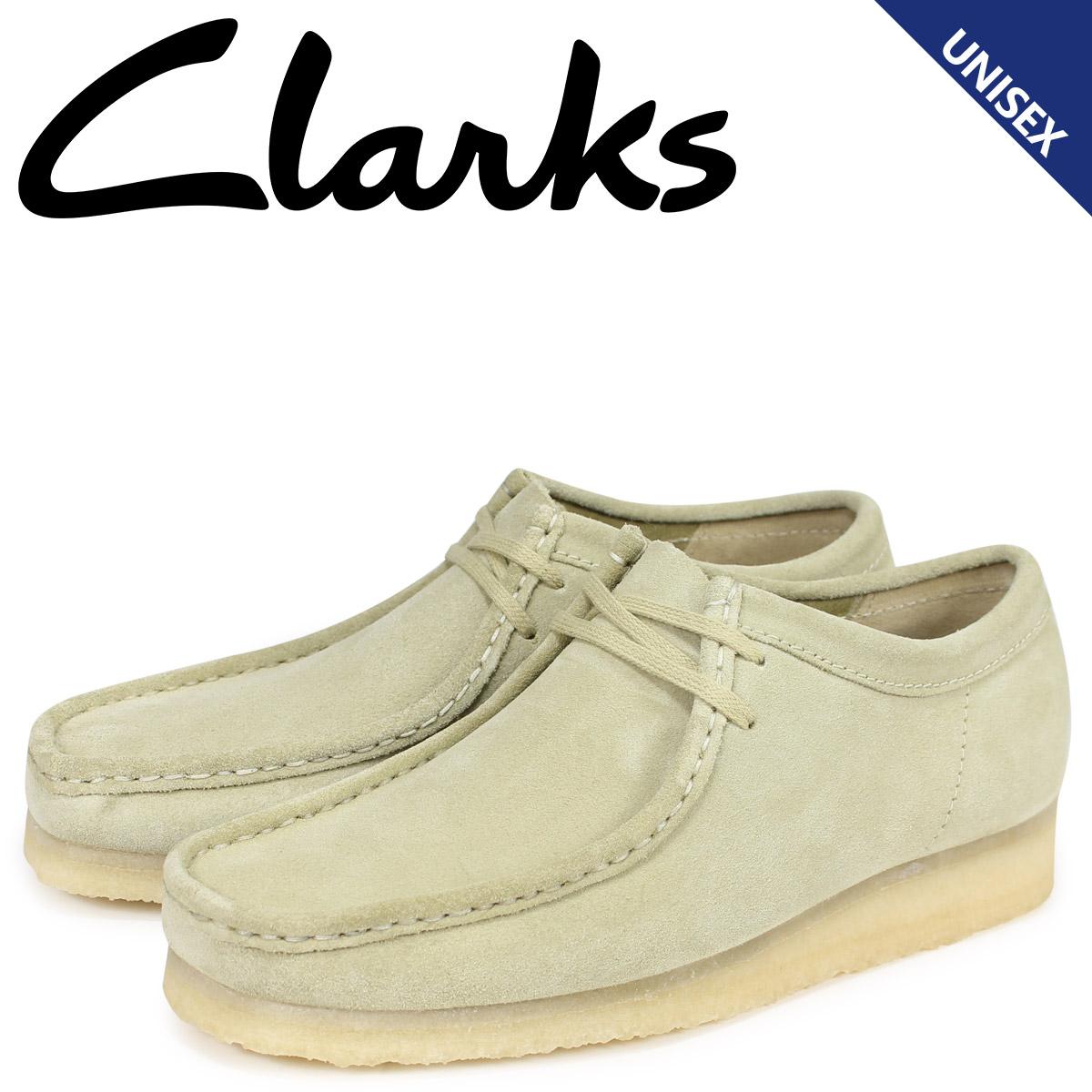 クラークス Clarks ワラビー ブーツ メンズ レディース WALLABEE メープルスエード ベージュ 26133278