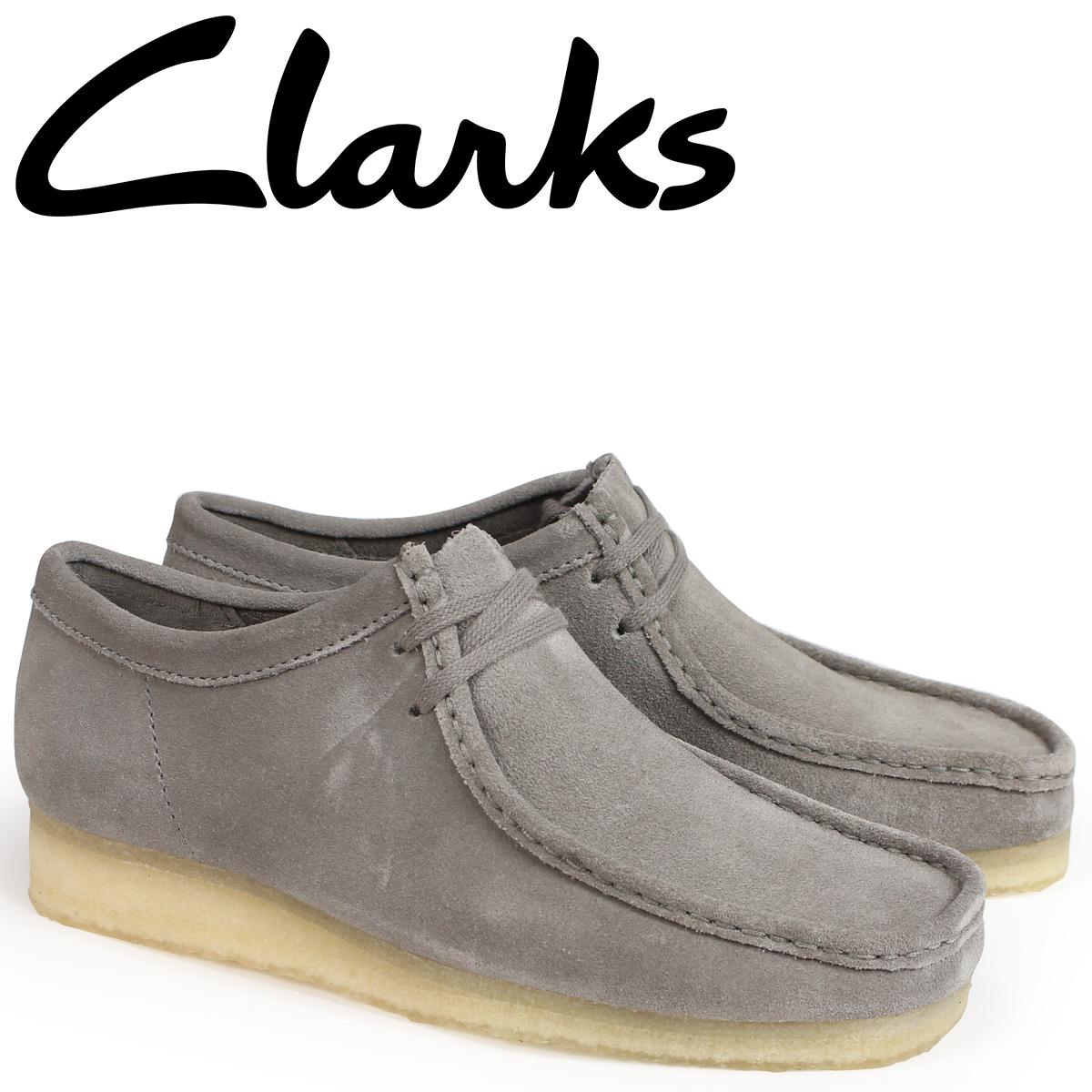 クラークス ワラビー ブーツ メンズ Clarks WALLABEE 26134752 グレー [9/19 新入荷]