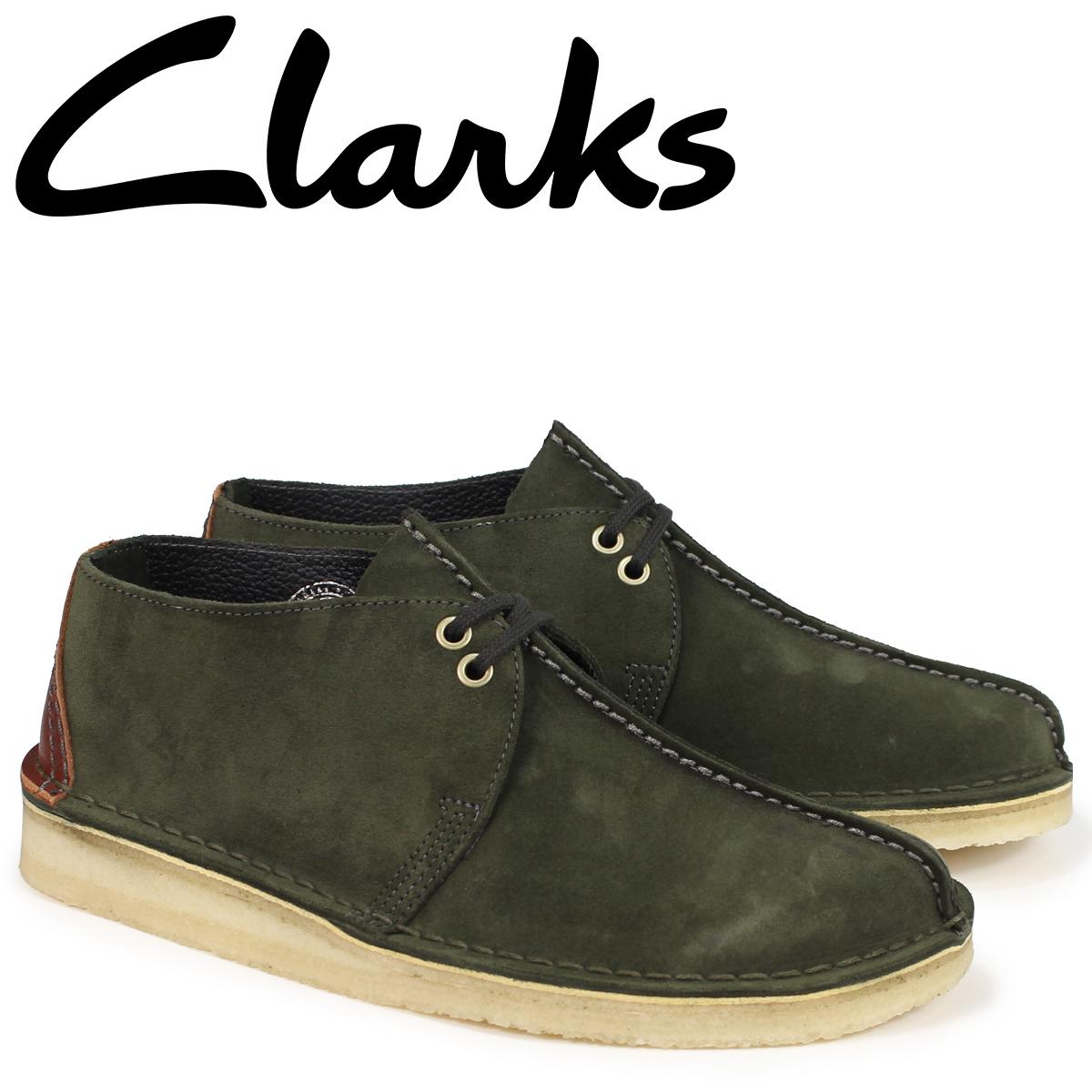 クラークス デザートトレック ブーツ メンズ Clarks DESERT TREK 26134762 ダークグリーン [9/19 新入荷]