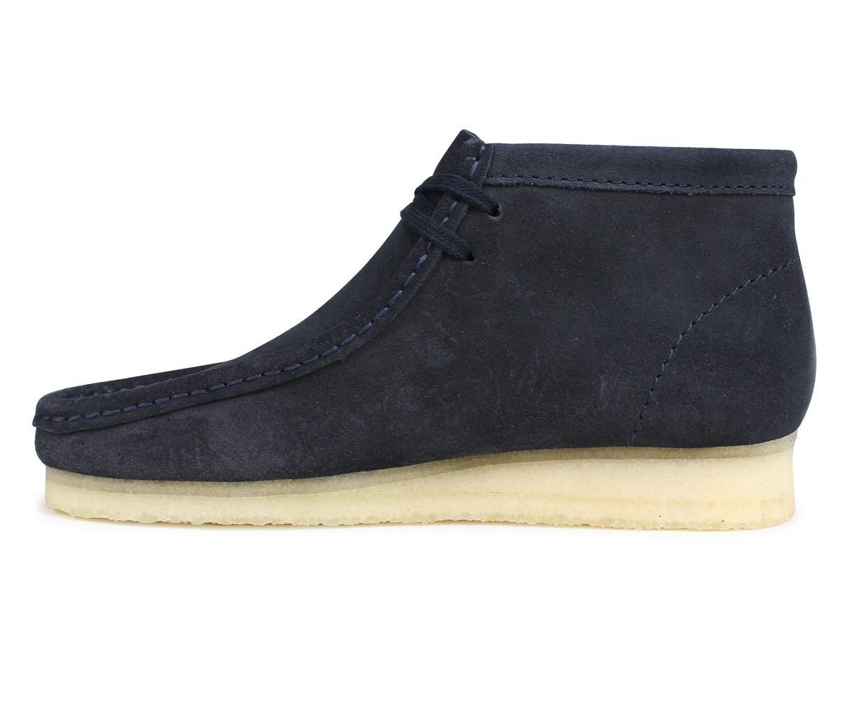 Kulaki wallaby boots men Clarks WALLABEE BOOT 26135225 dark blue