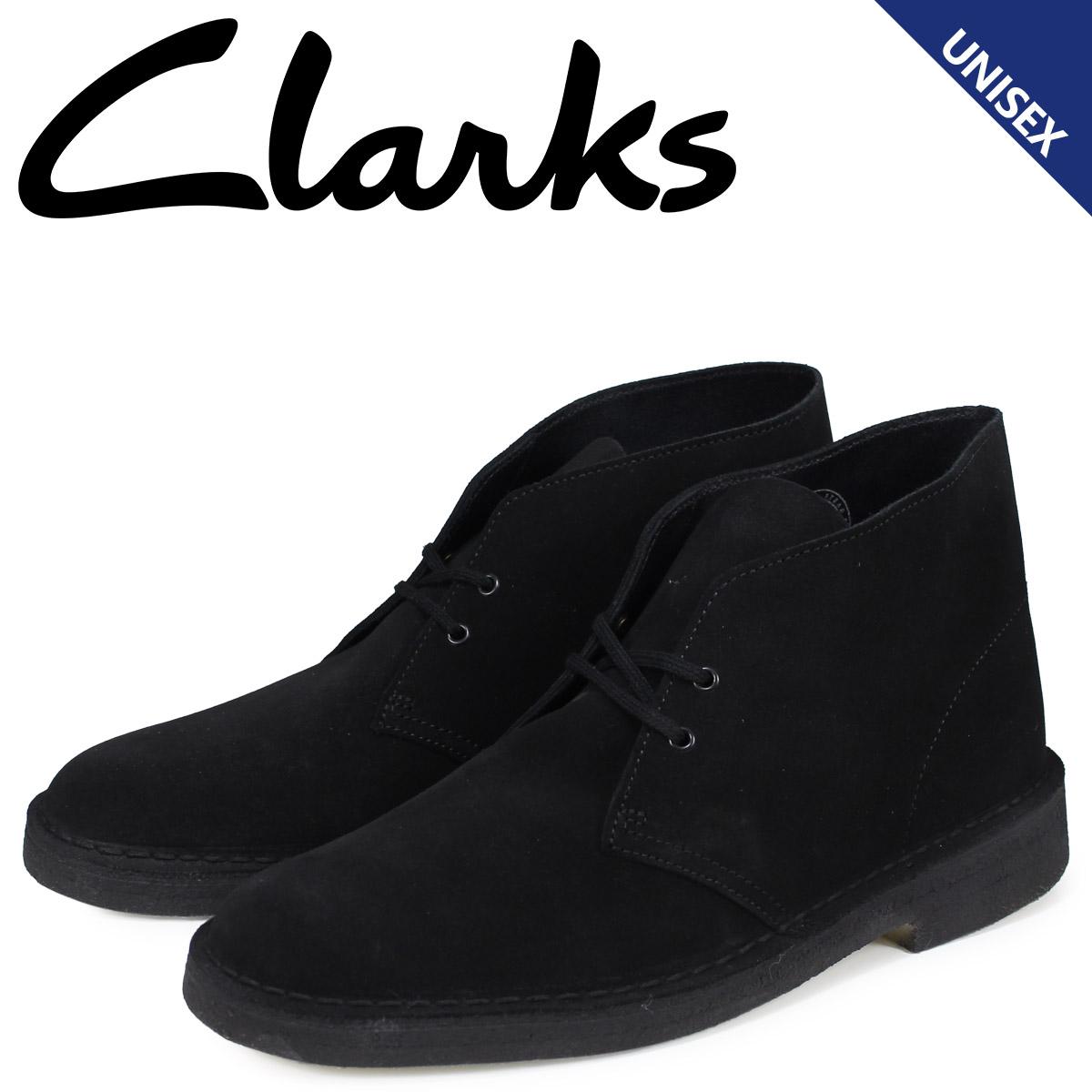 クラークス Clarks デザートブーツ メンズ レディース DESERT BOOT スエード ブラック 26138227 [3/30 追加入荷]