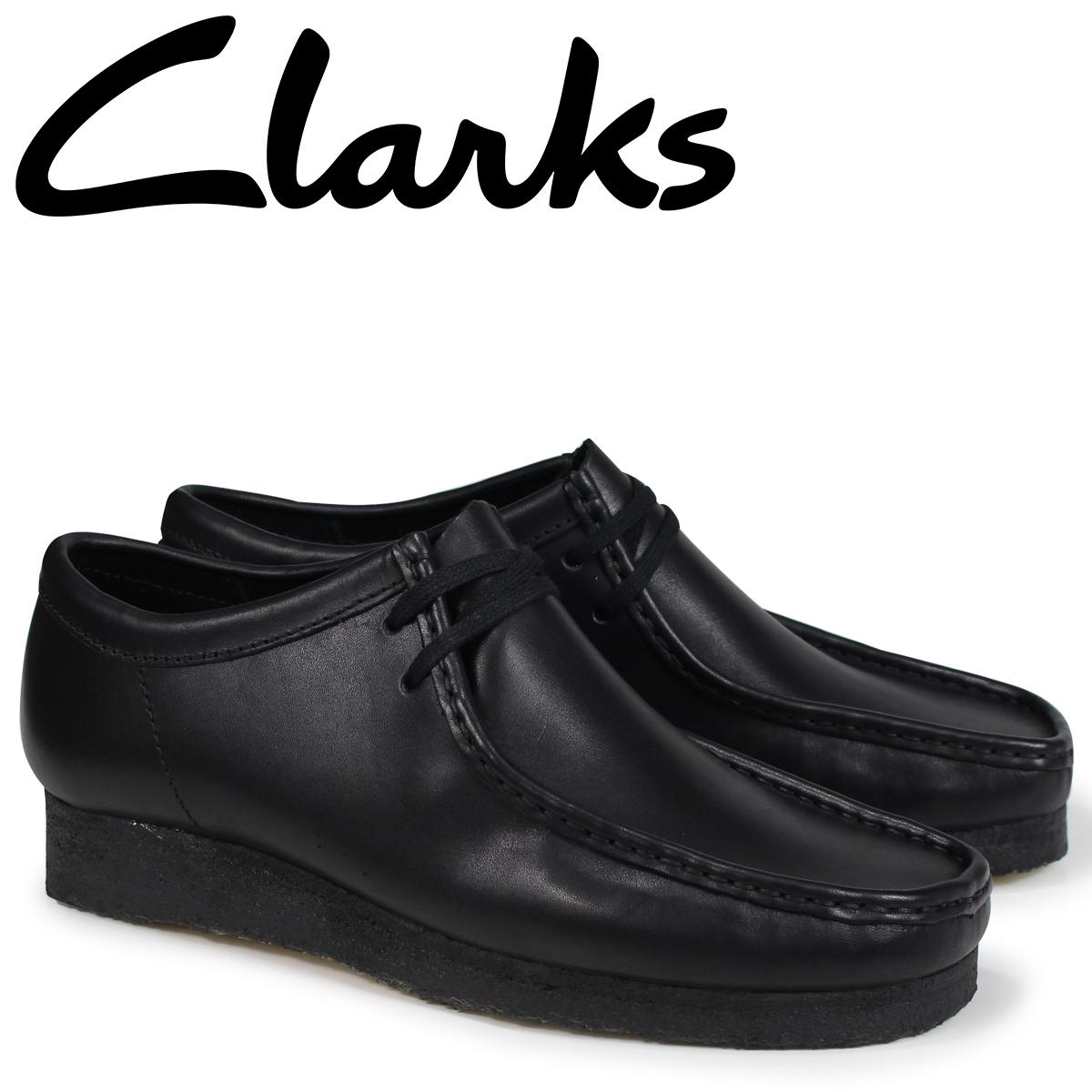 クラークス ワラビー ブーツ メンズ Clarks WALLABEE 26138269 ブラック [9/19 新入荷]
