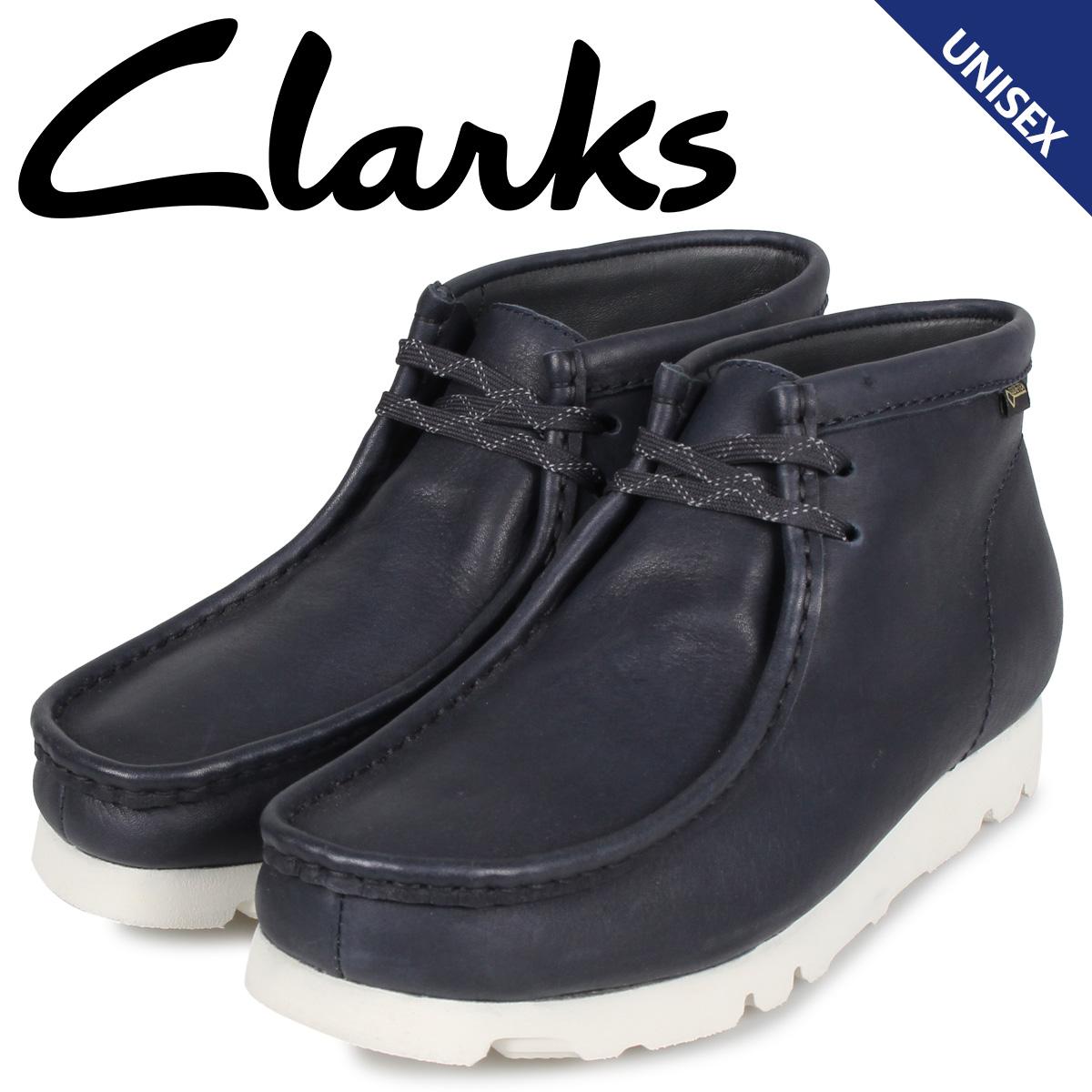クラークス Clarks ワラビー ブーツ メンズ レディース WALLABEE GTX レザー ゴアテックス ブラック 黒 26144519