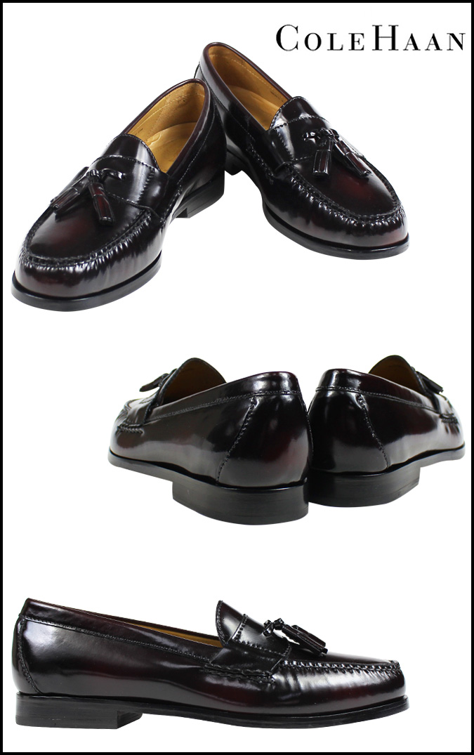 Cole Haan Cole Haan pinch Grand tassel loafer shoes PINCH GRAND TASSEL M wise leather mens C12767 Burgundy [1 / 20 new in stock] [regular] ★ ★
