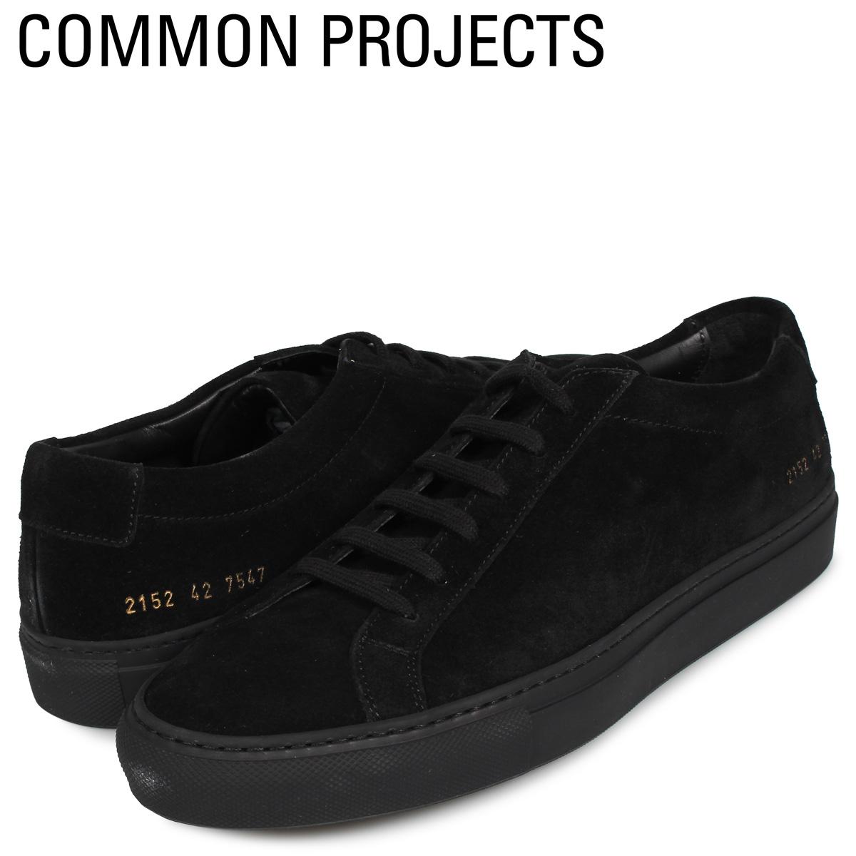 【お買い物マラソンSALE】 コモンプロジェクト Common Projects アキレス ロー スニーカー メンズ ACHILLES LOW SUEDE ブラック 黒 2152-7547
