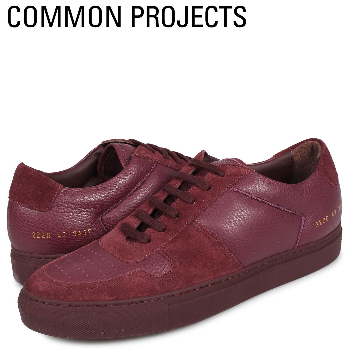 コモンプロジェクト Common Projects ビーボール ロー プレミアム スニーカー メンズ BBALL LOW PREMIUM ワインレッド 2226-3497