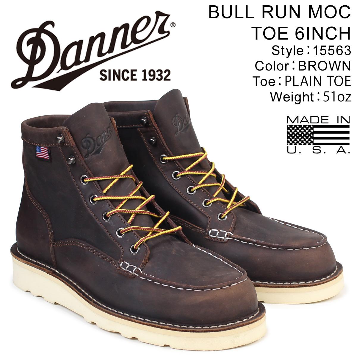 ダナー ブーツ Danner ブーツ BULL RUN ダナー MOC TOE 6INCH 15563 BULL Dワイズ メンズ ブラウン, Vision Quest:8663b730 --- ww.thecollagist.com