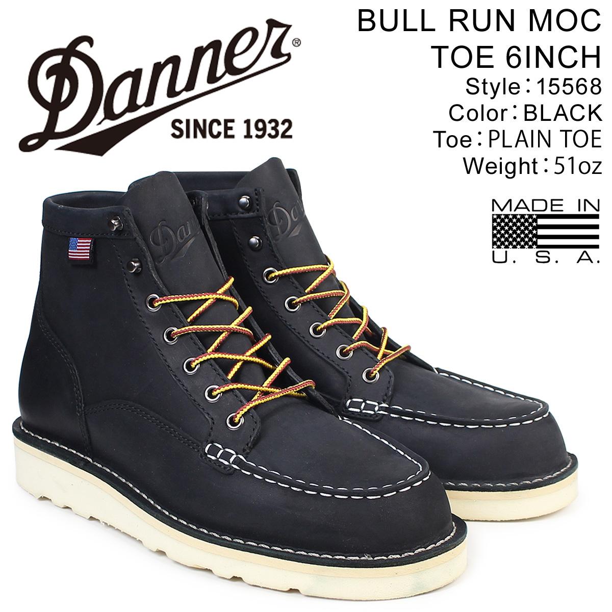 【最大2000円OFFクーポン】 ダナー Danner ブーツ BULL RUN MOC TOE 6INCH 15568 EEワイズ メンズ ブラック