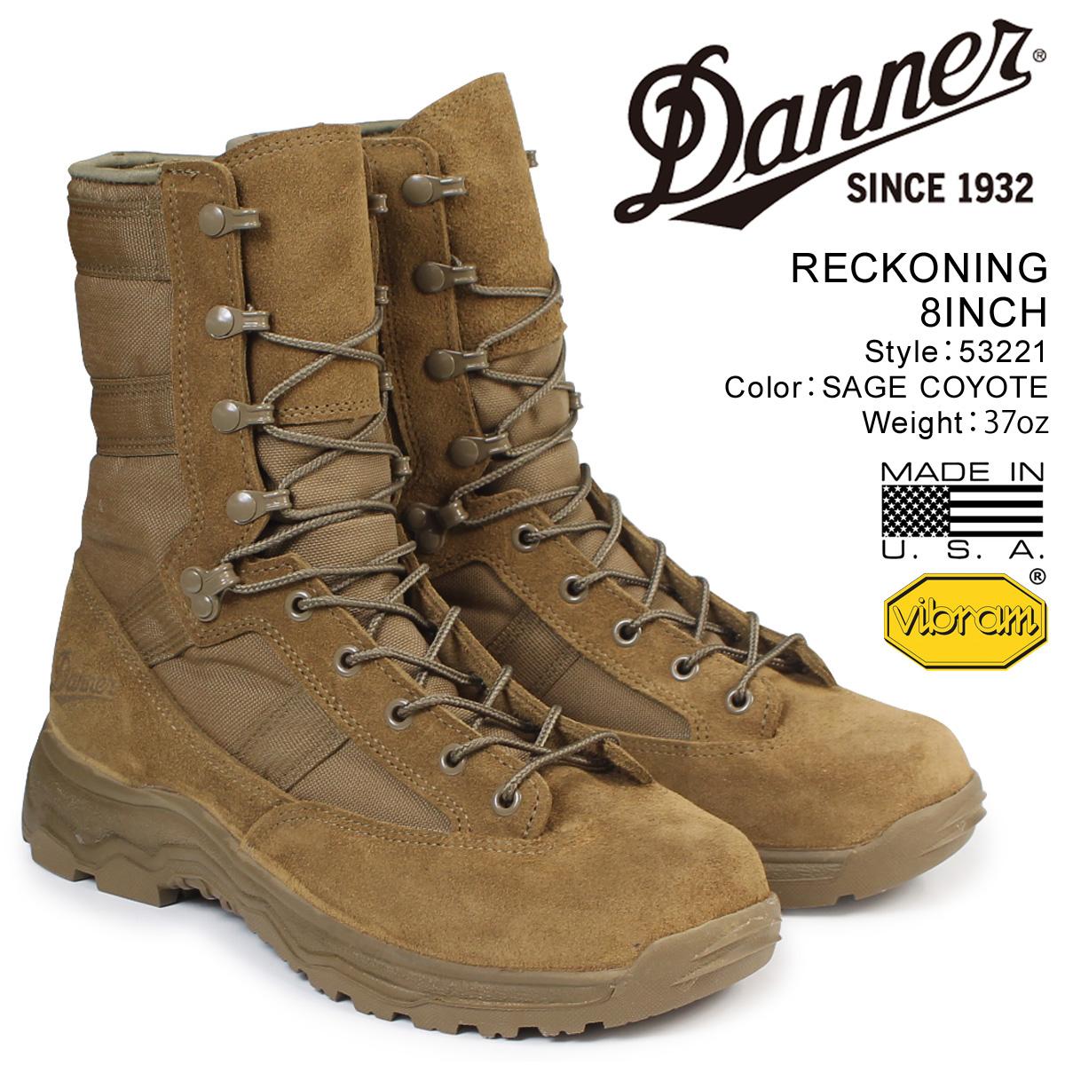 【最大2000円OFFクーポン】 ダナー Danner ブーツ RECKONING 8INCH 53221 メンズ ブラウン