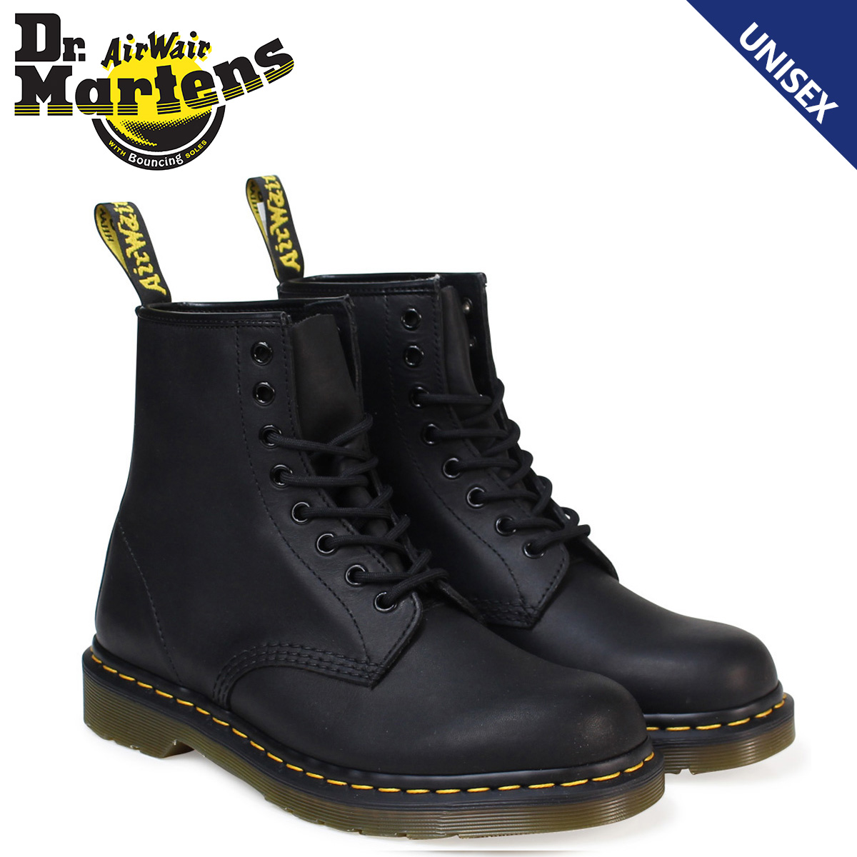 ドクターマーチン Dr.Martens 8ホール 1460 ブーツ メンズ レディース GREASY 8EYE BOOT ブラック R11822003