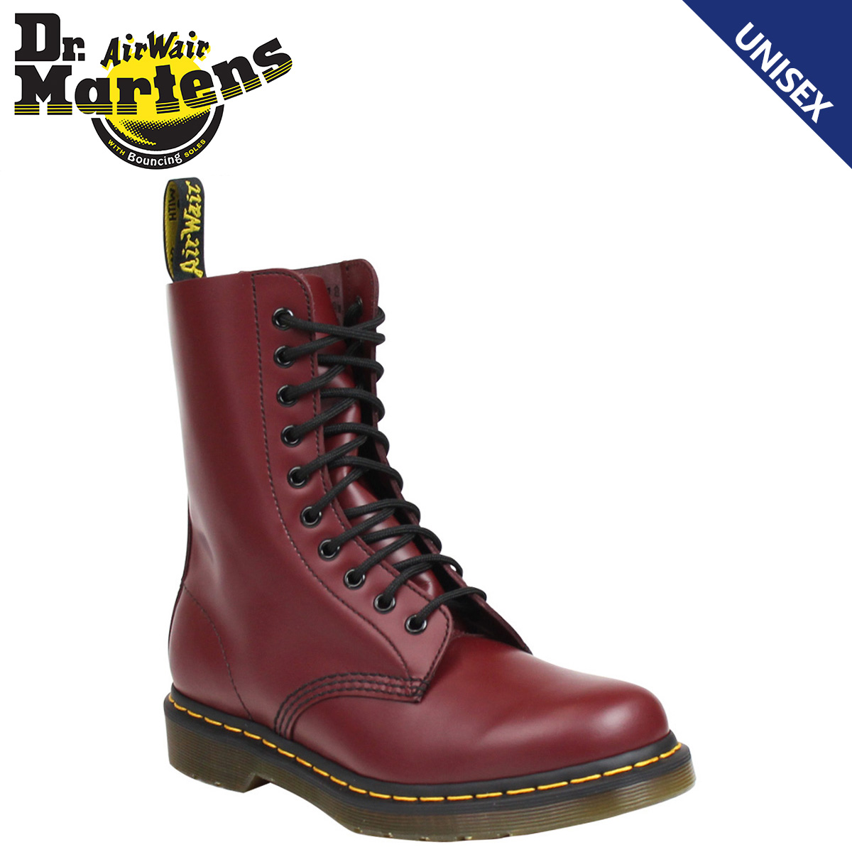 Dr. Martens Dr.Martens 1490 men's ladies 10 EYE BOOT boots 10 hole boots  R11857600 cherry red [10/16 new in stock]